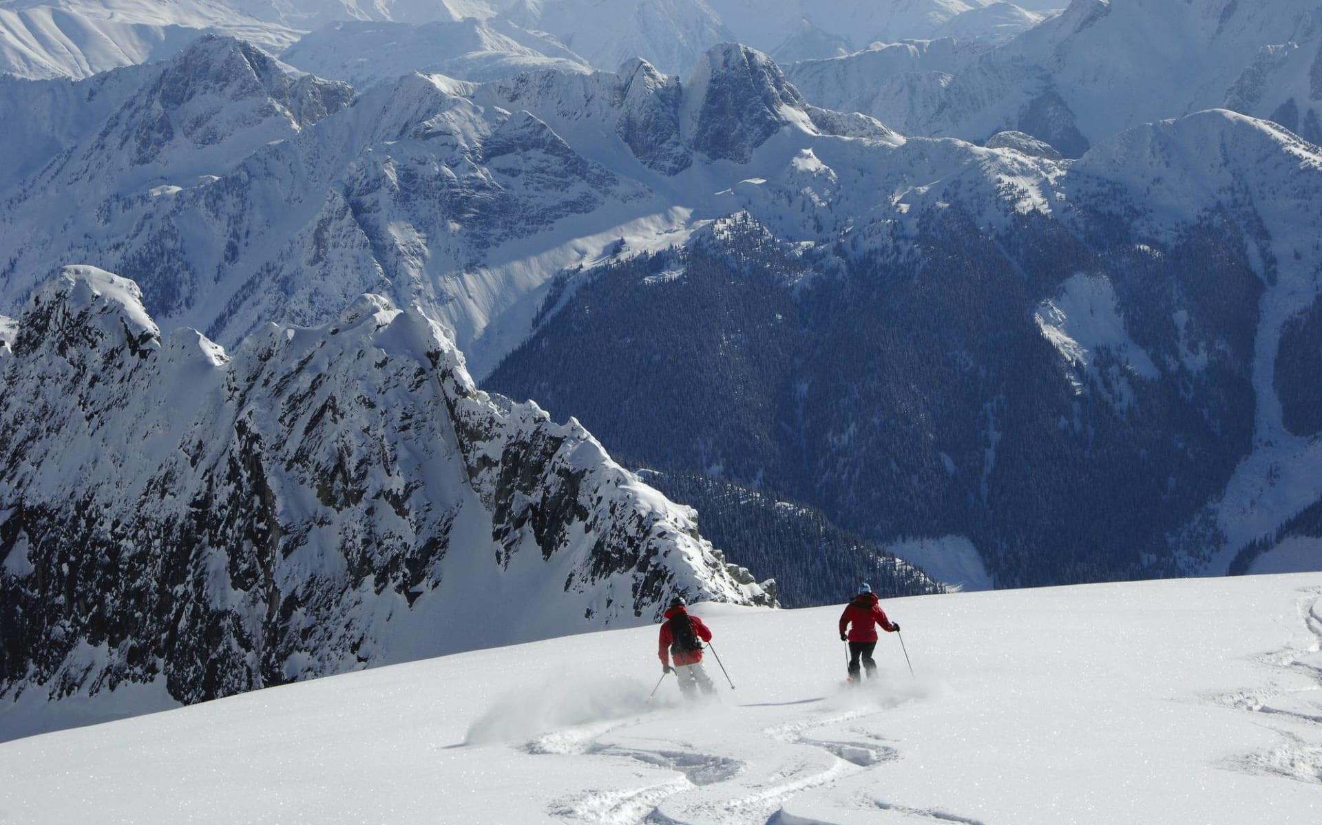 Galena 7 Tage (CMH) ab Kelowna: Kanada - CMH - Galena - zwei Skifahrer