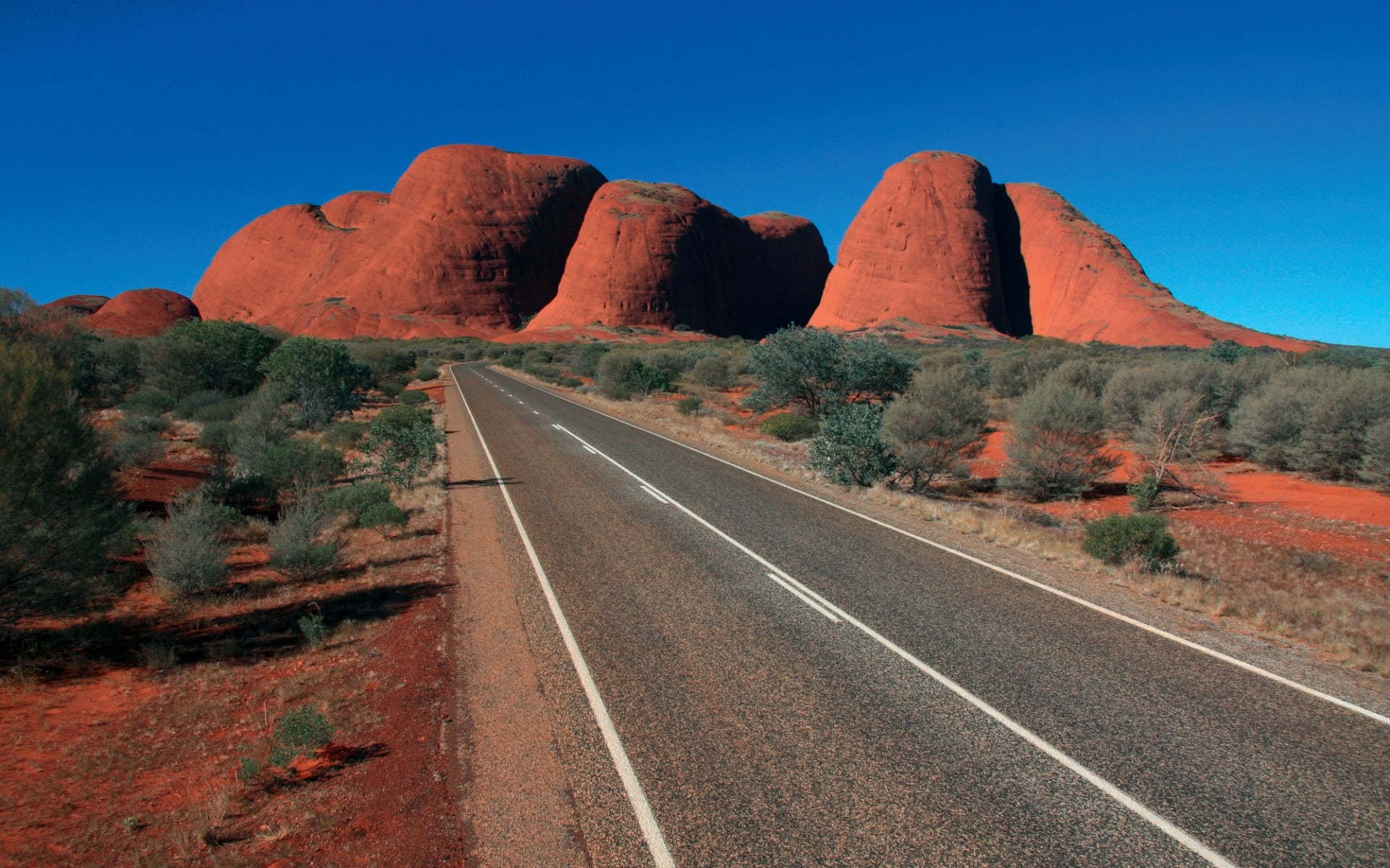4x4 Red Centre Wallaby Dreaming Safari ab Alice Springs: Kata Tjuta - The Olgas with road