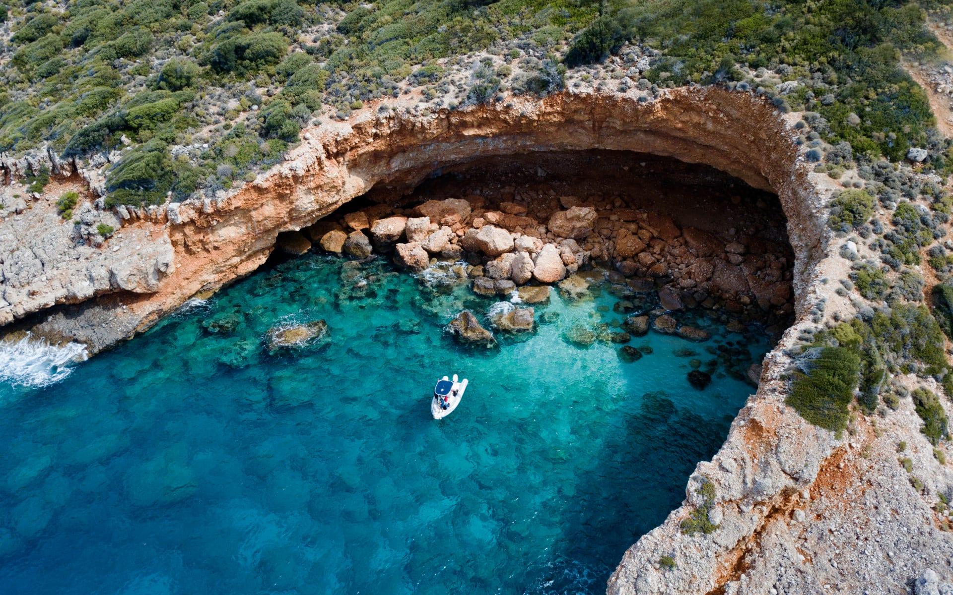 Badeferien im Güral Premier Belek ab Antalya: kleine Bucht_Türkei