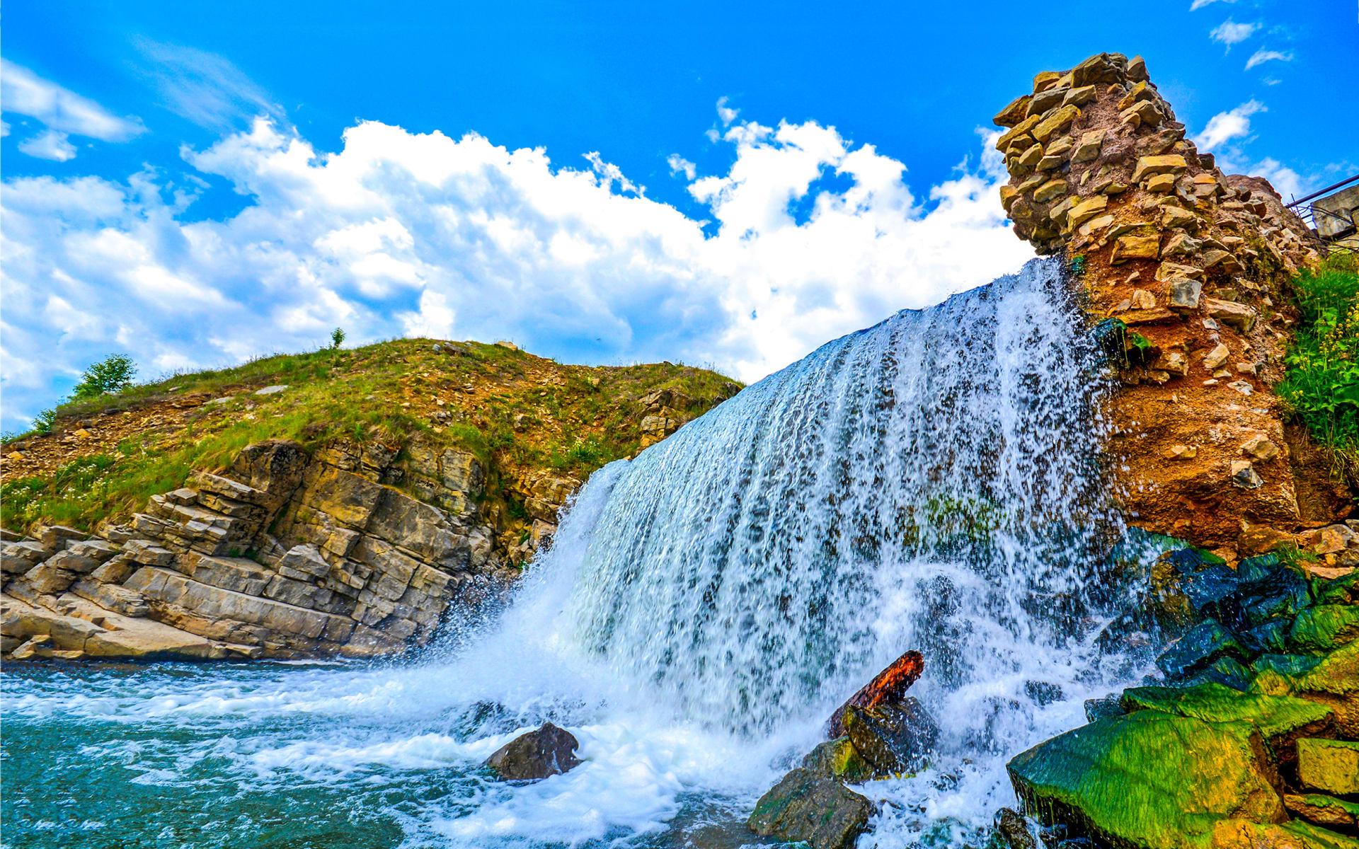 Badeferien im Seaden Sea World Resort & Spa ab Side: kleiner Wasserfall_Türkei