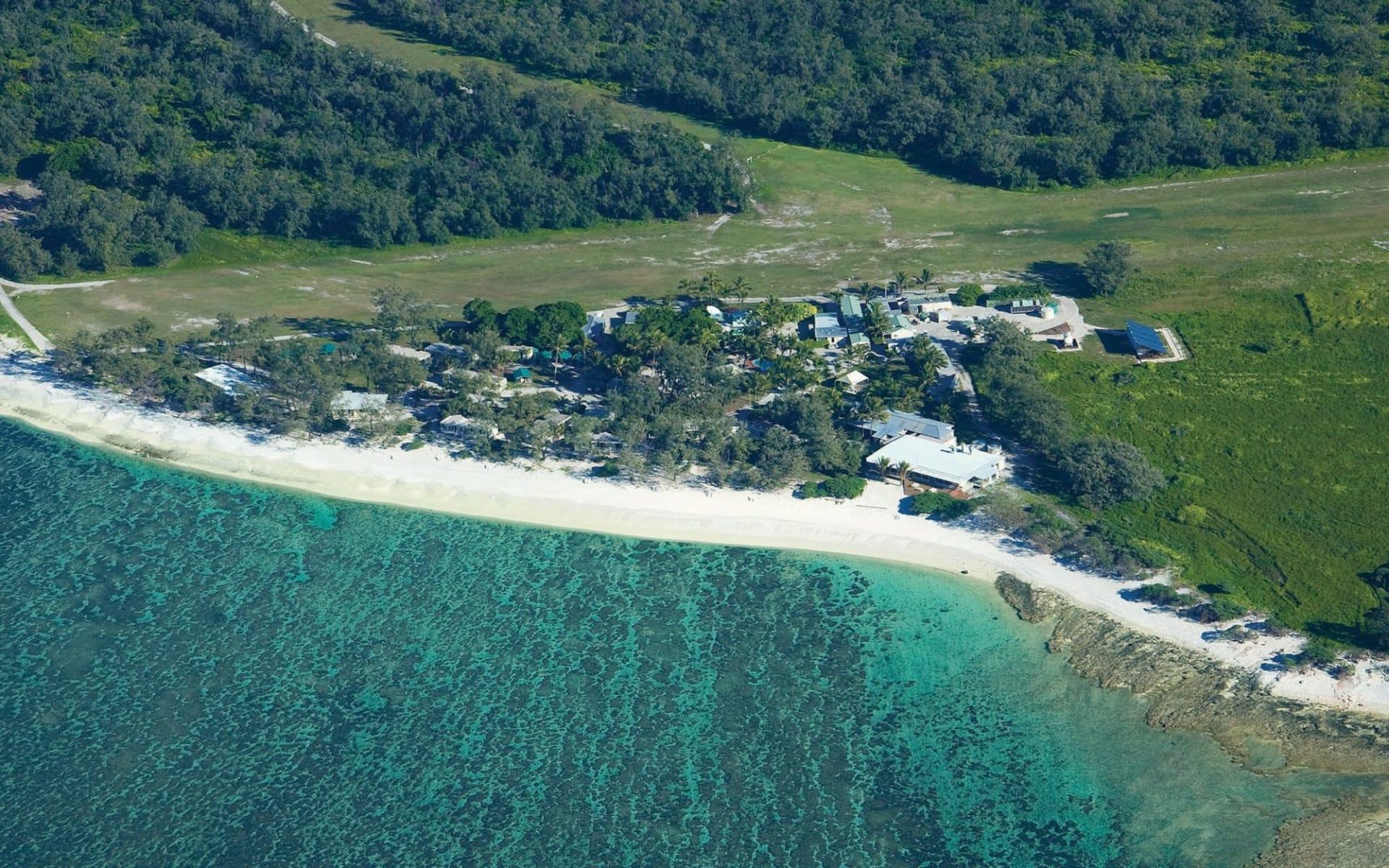 Lady Elliot Island Eco Resort: Lady-elliot_aerial photo of Resort
