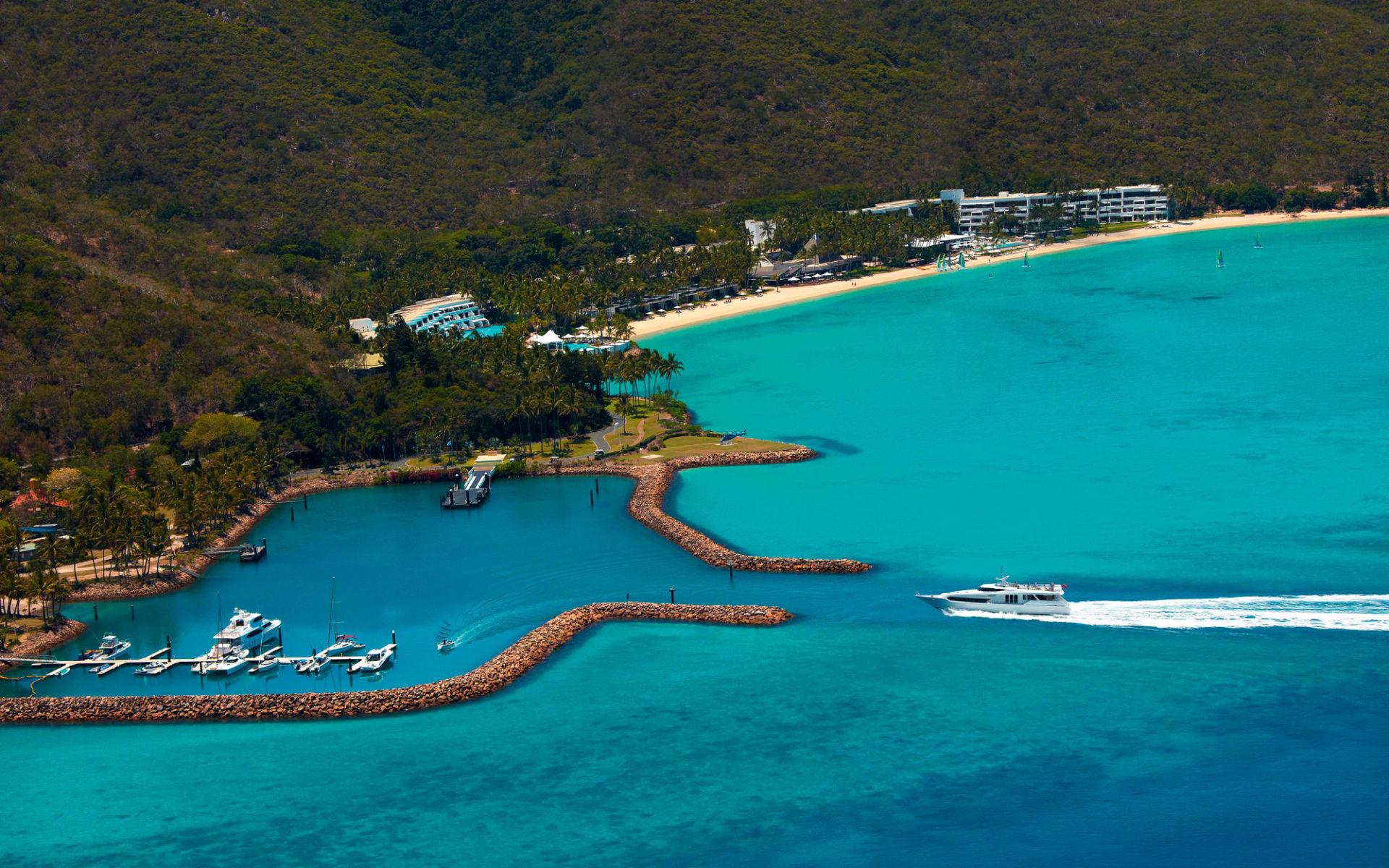 Intercontinental Hayman Island Resort:  One&Only Hayman Island - Vogelperspektive