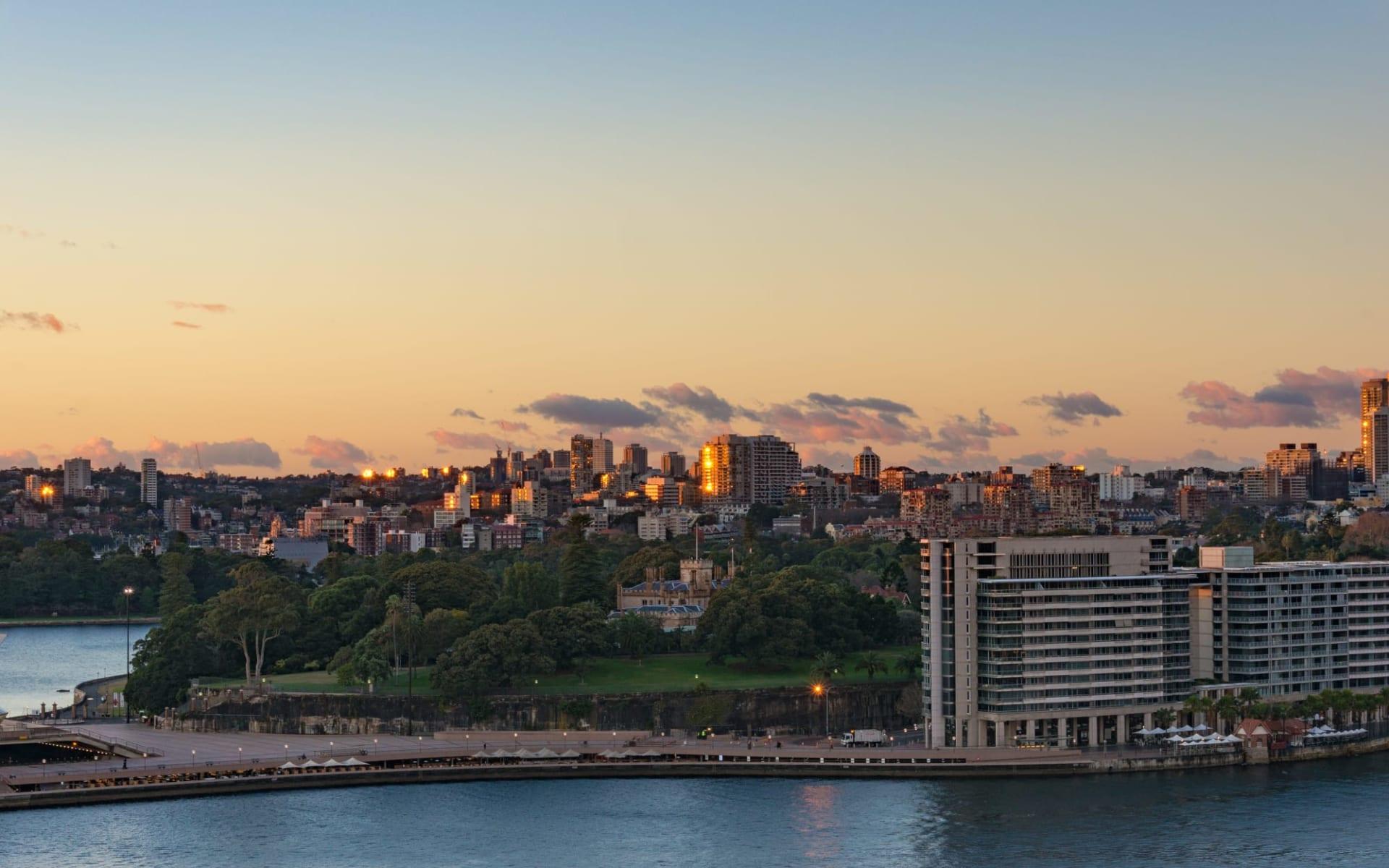 Spicers Potts Point Sydney:  Sydney, Botanischer Garten mit Potts Point und Woolloomooloo im Hintergrund