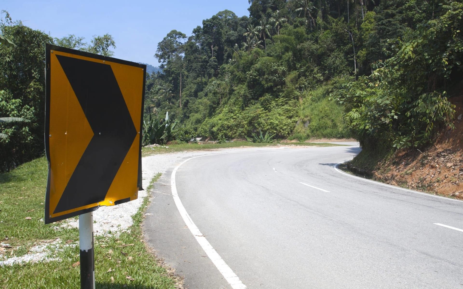 Malaysia - Grosse Mietwagenrundreise - SIN-PEN ab Kuala Lumpur: Malaysia Cameron Highlands Road Sign