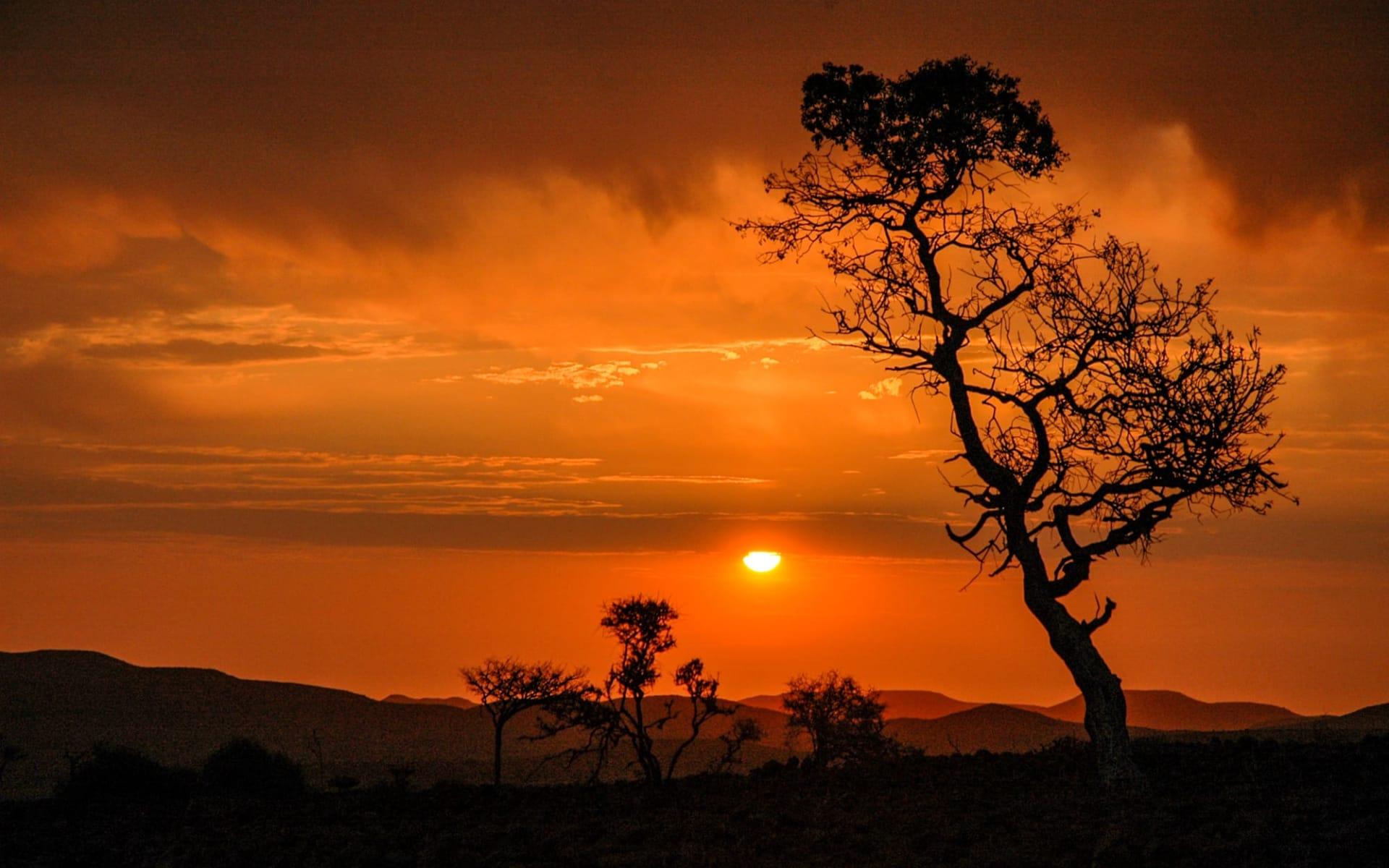 Rostock Ritz Desert Lodge in Solitaire: Namibia Sossusvlei, Sonnenuntergang