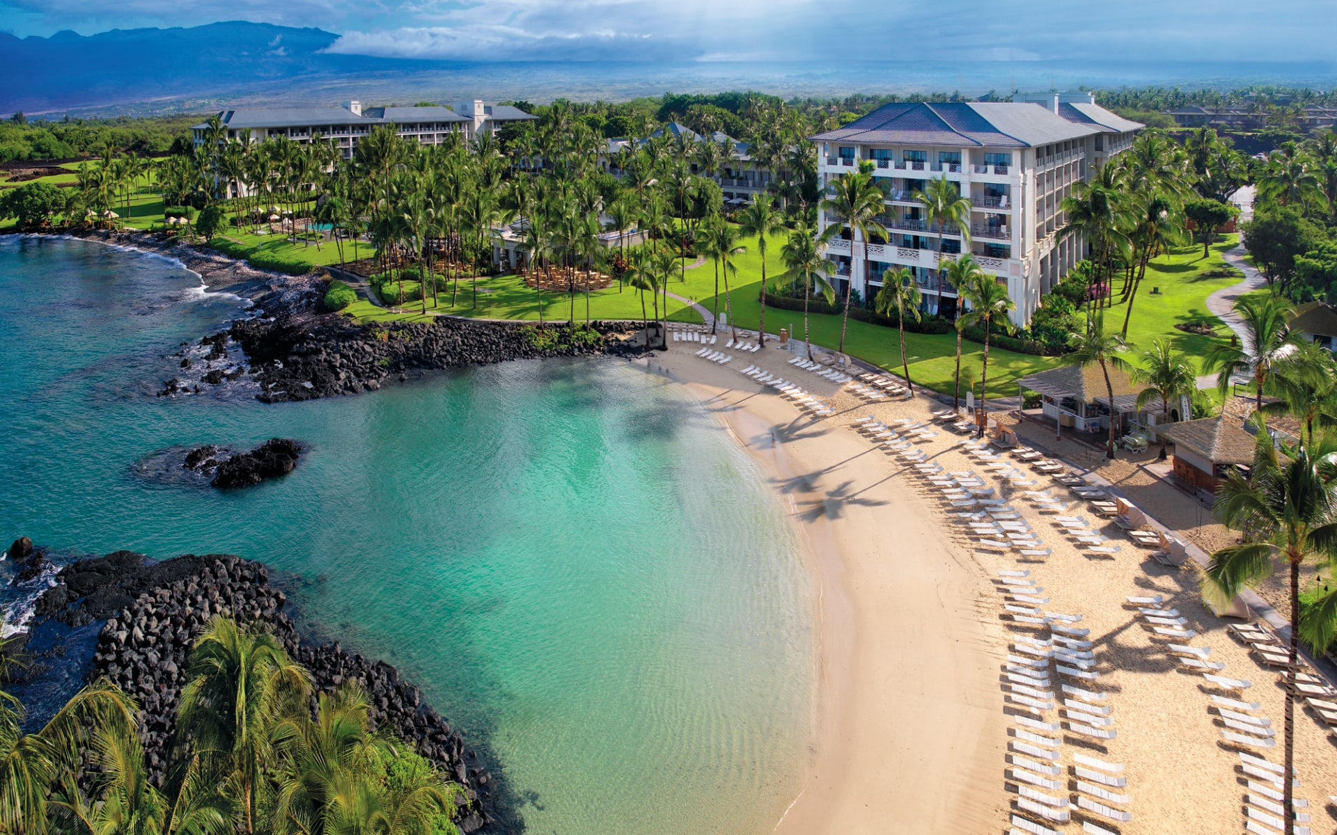 Fairmont Orchid in Waikoloa: natur fairmont orchid hotel strand meer