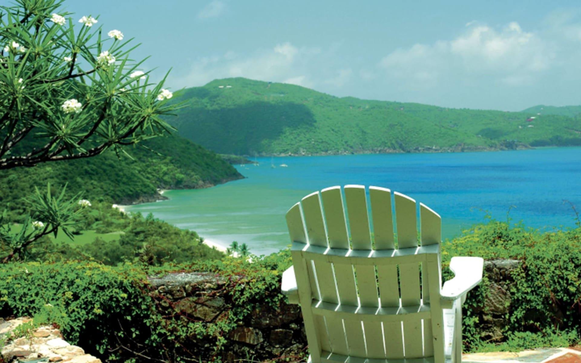 Guana Island Resort: natur guana island stuhl meer