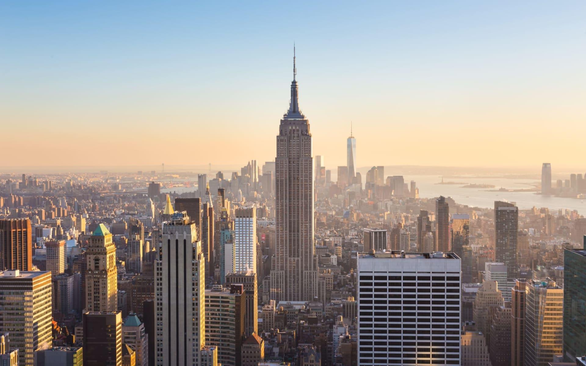 US Open ab New York - Manhattan: New York - New York City - Blick auf Emire State Building
