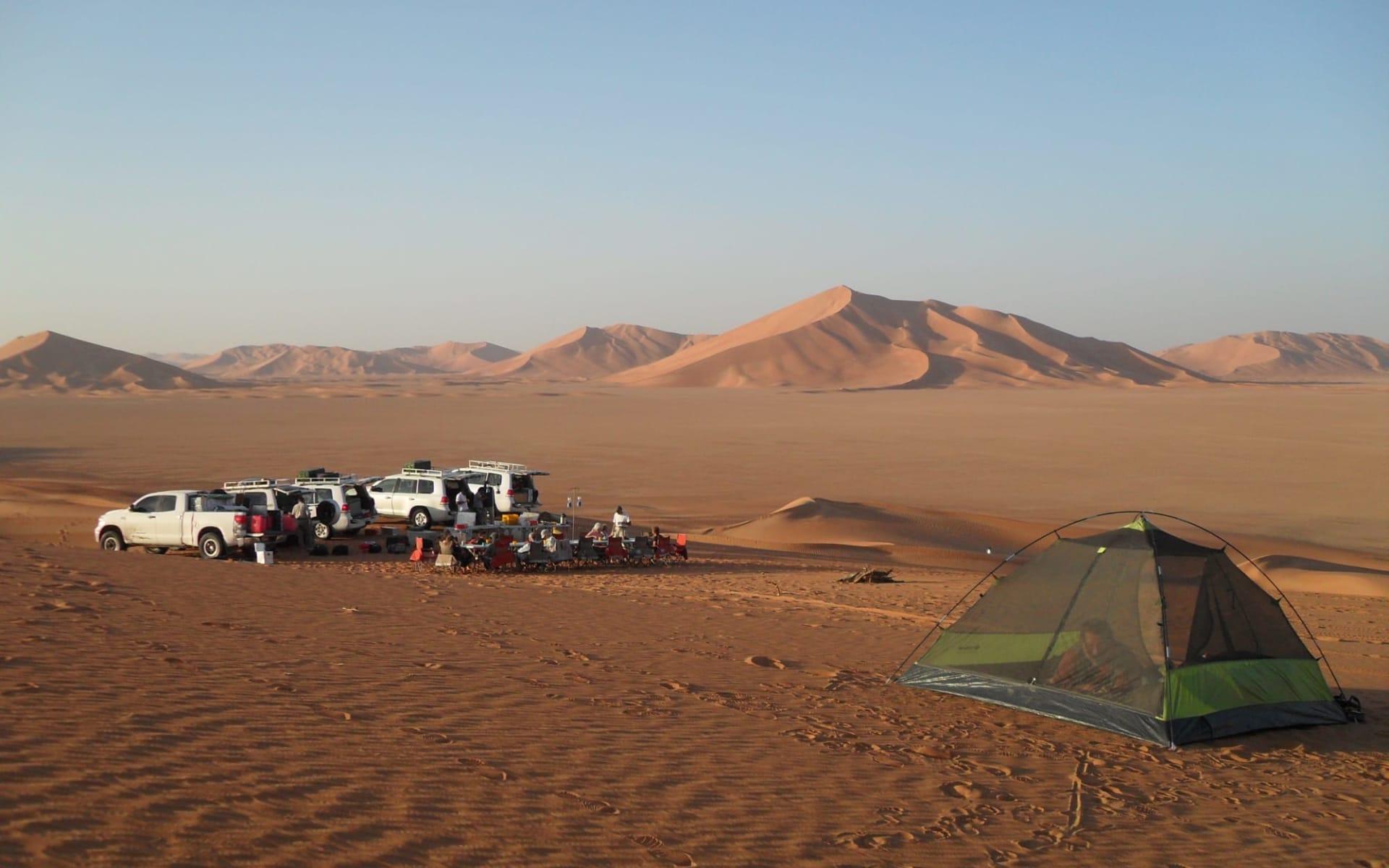 Auf den Spuren der alten Weihrauchroute ab Salalah: Oman Camping in the desert