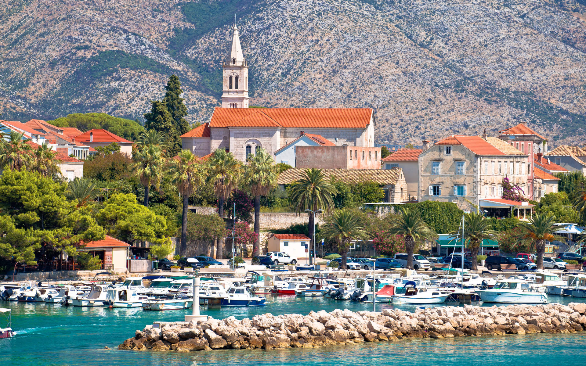 Badeferien im Aminess Grand Azur Hotel ab Orebic: Orebic Hafen Kroatien