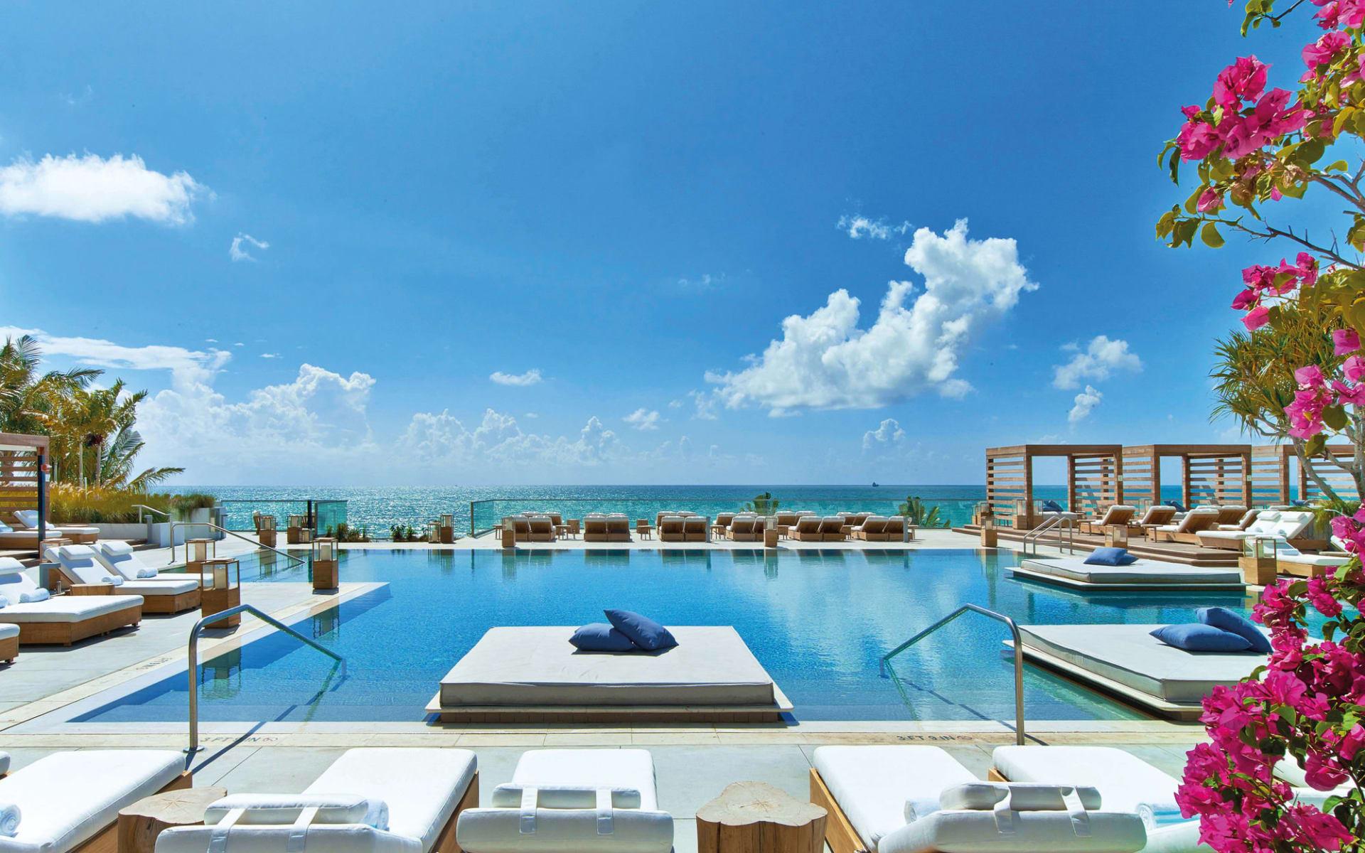 1 Hotel South Beach in Miami Beach: 1 South Beach - Poolanlage