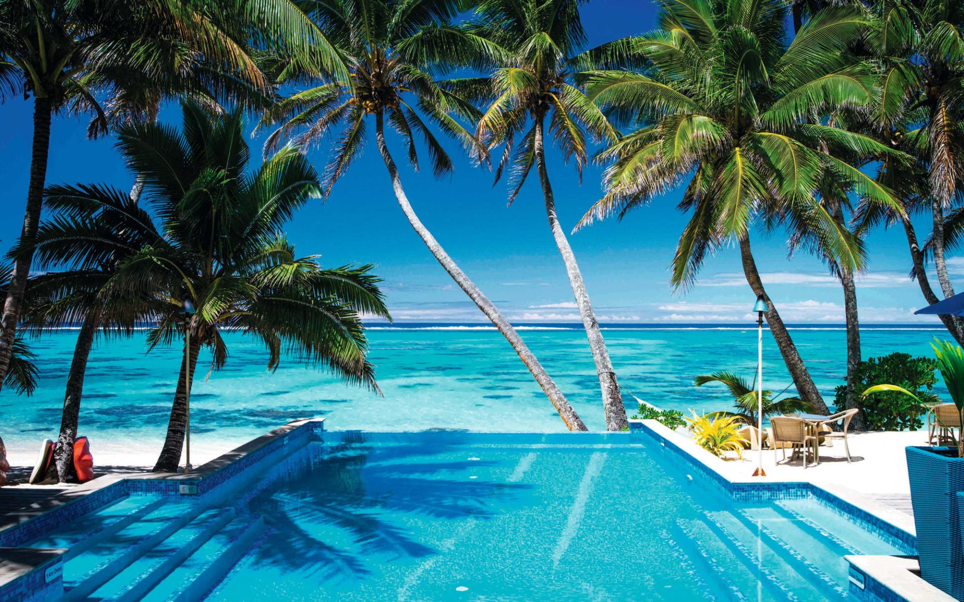 Little Polynesian in Rarotonga: facilities Little Polynesian-Infinity-Pool-Lagoon-View