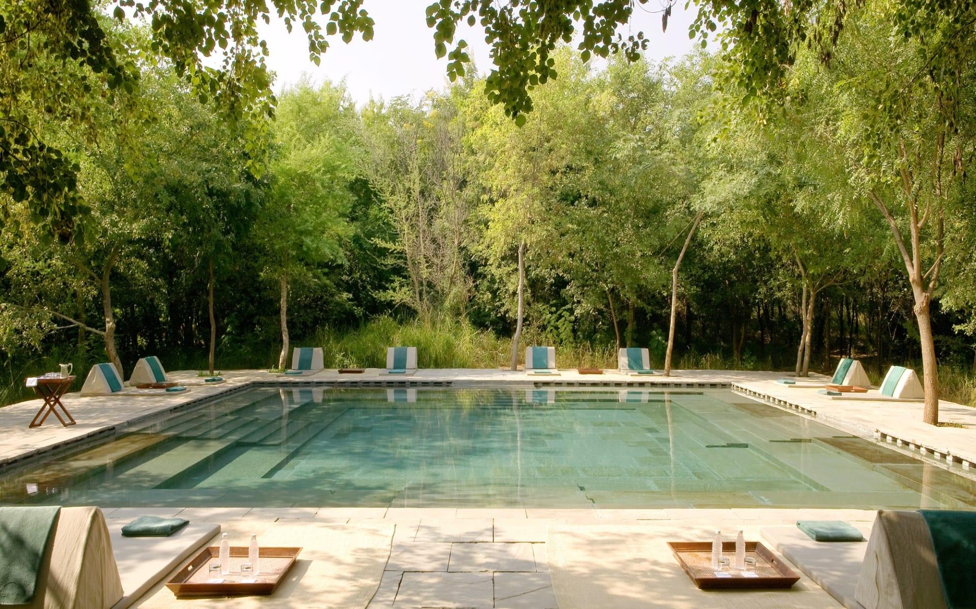 Aman-i-Khas in Ranthambore: Pool