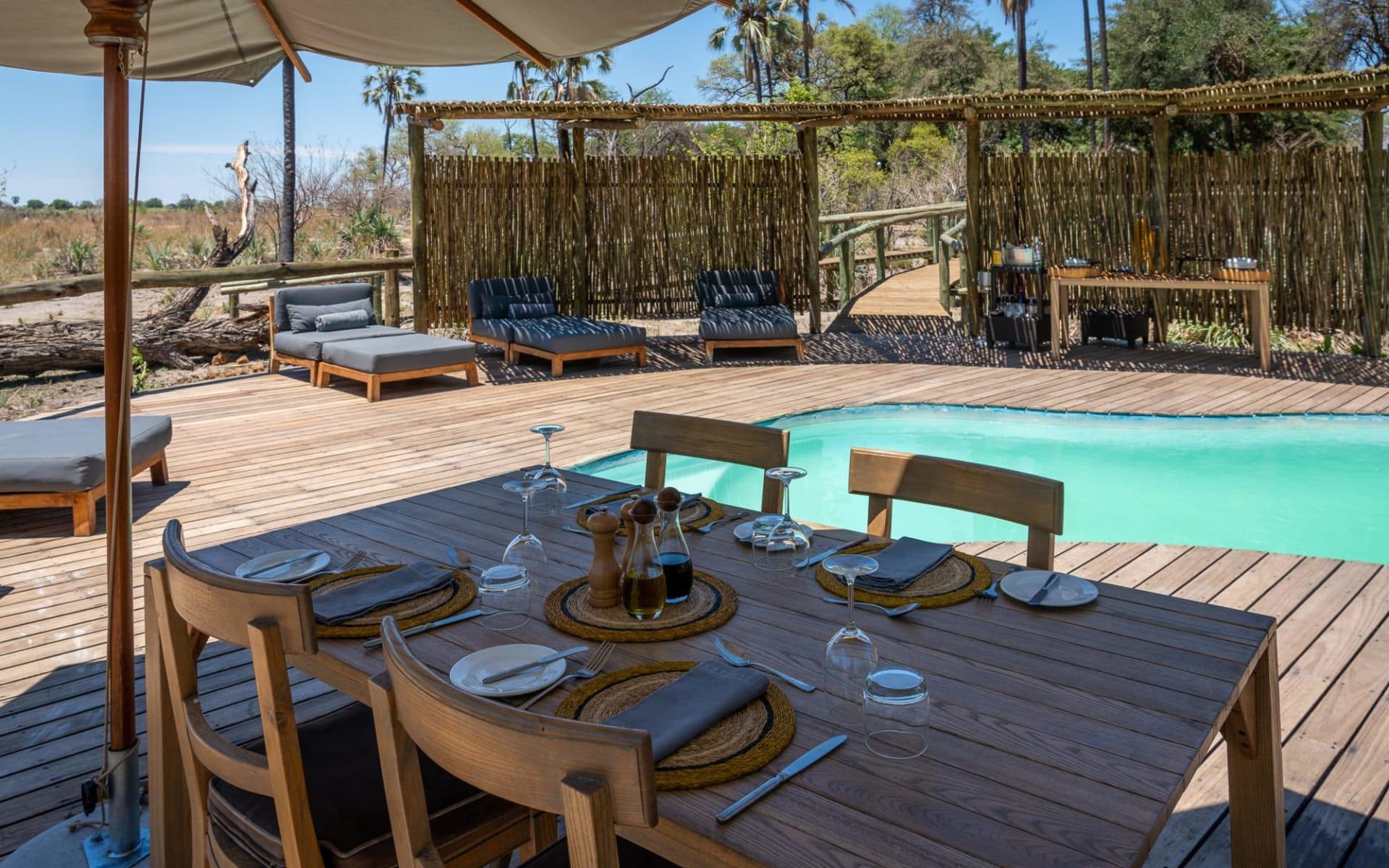 Seba Camp in Okavango Delta:  Seba Camp-dining