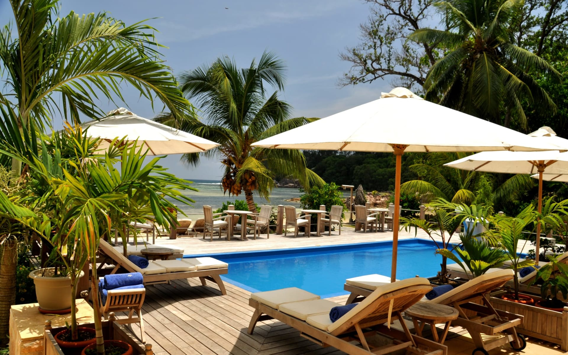 Crown Beach Hotel in Mahé: Swimming Pool