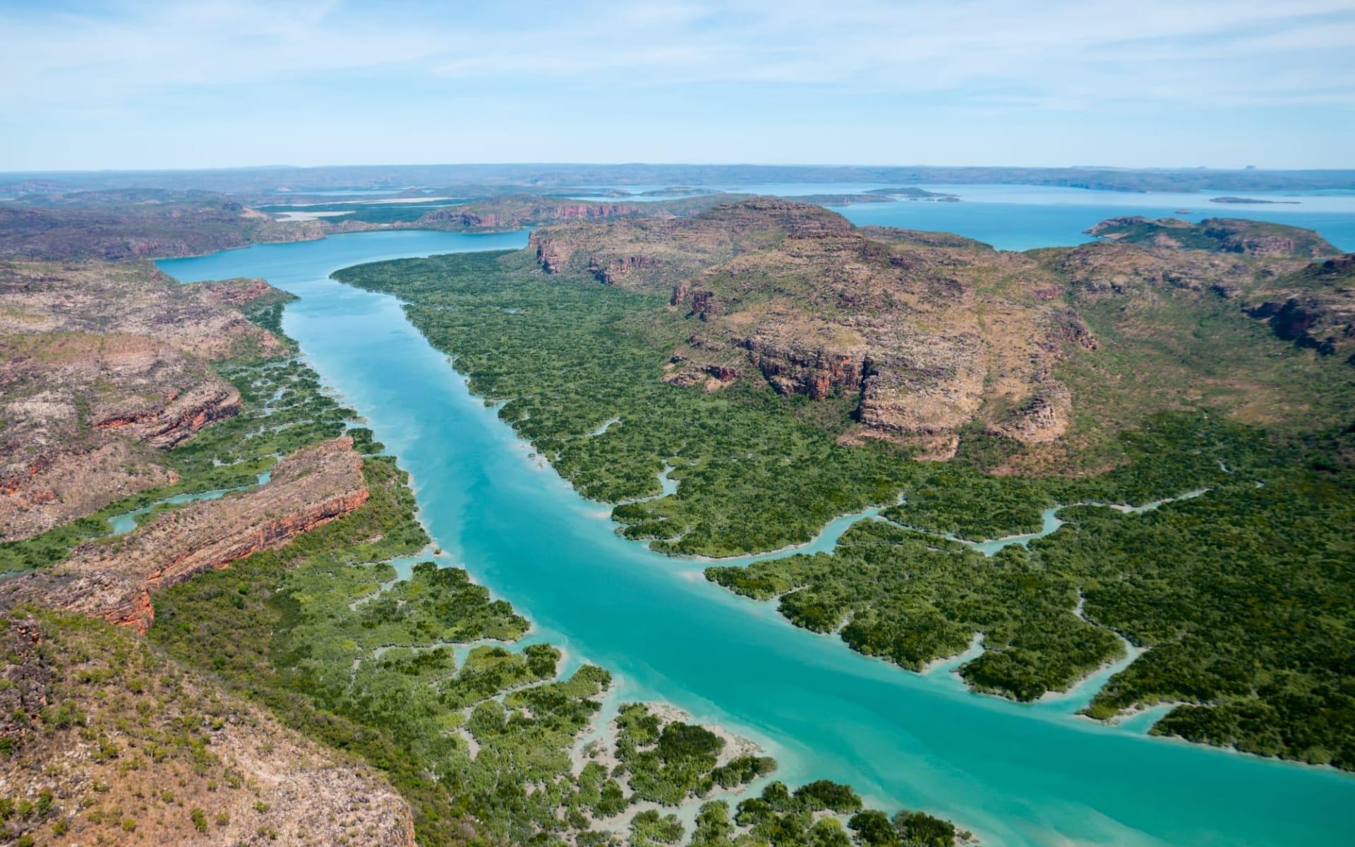 Expeditions-Kreuzfahrten Kimberley ab Darwin: Porosis Creek und Naturalist Island