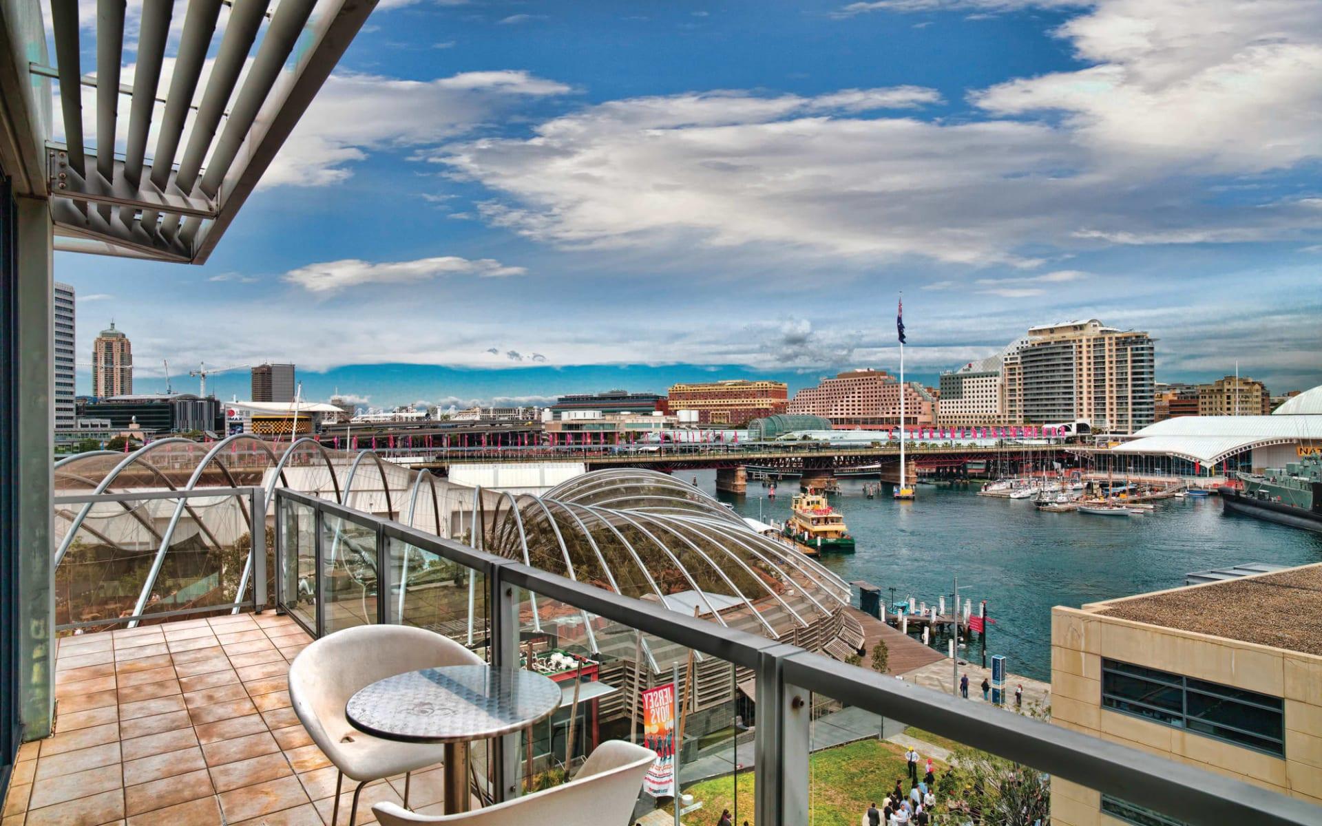 Adina Apartment Hotel Sydney Darling Harbour: Adina Apartment Hotel Sydney Harbourside - Sicht aus dem Zimmer