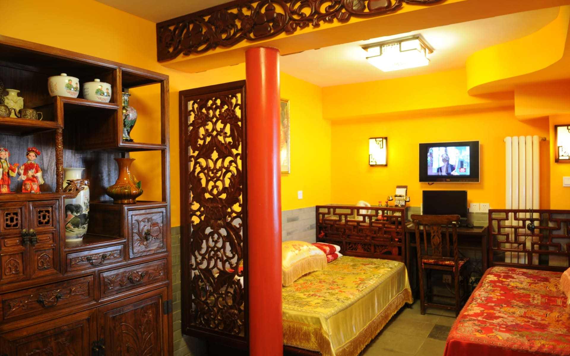 Beijing Double Happiness Courtyard in Peking: Chinese-style Deluxe Room | twin