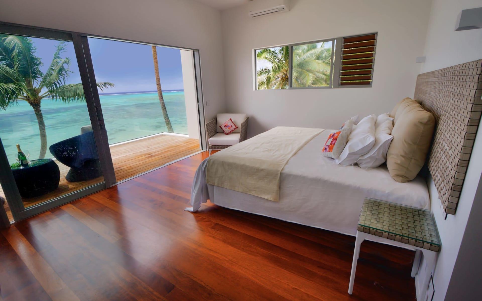 Crystal Blue Lagoon Villas in Rarotonga:  Crystal Blue Lagoon Villas - 2-Bedroom Beachfront Bungalow