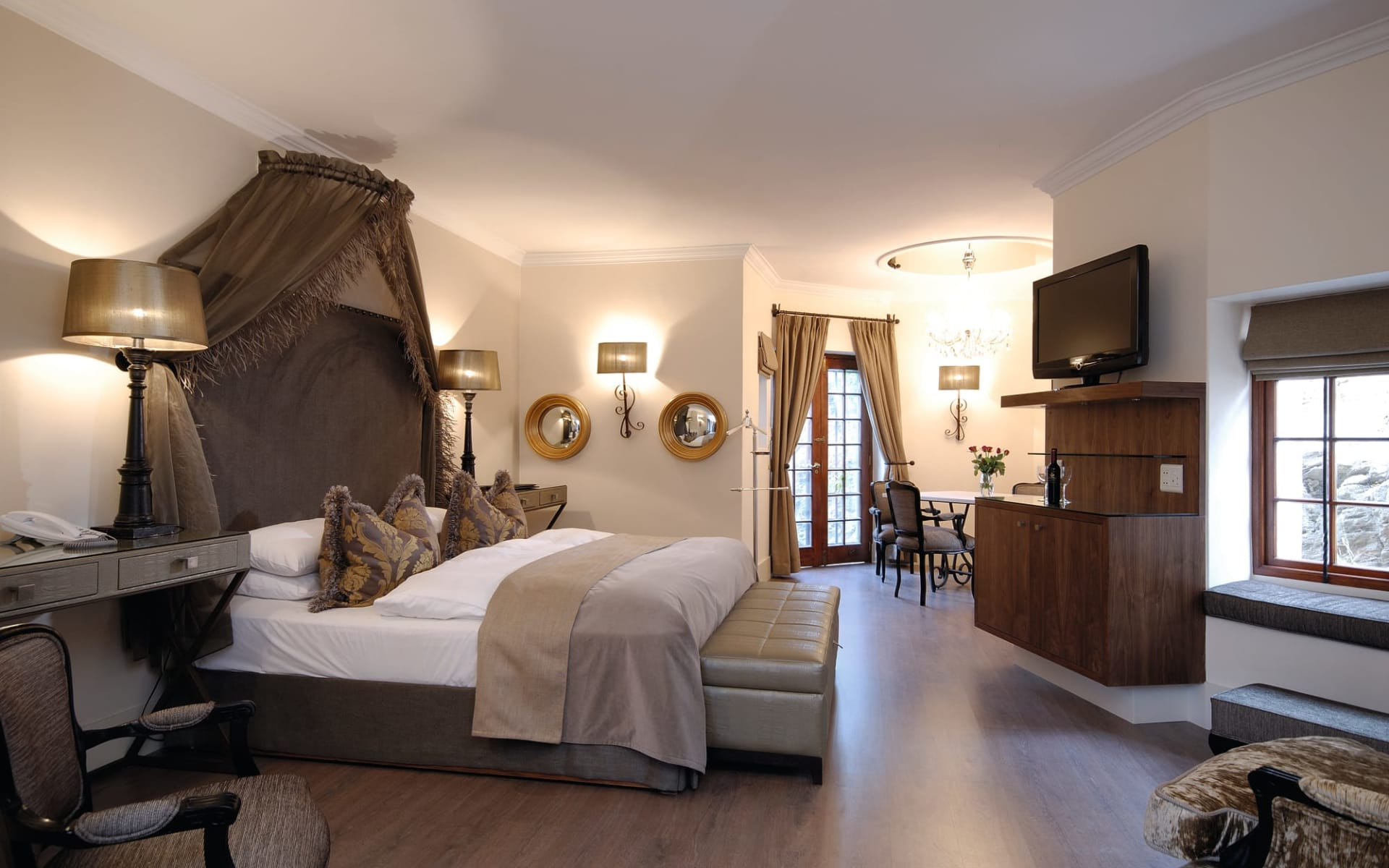 Hotel Heinitzburg in Windhoek Stadt: Hotel Heinitzburg - Zimmer mit Queenbed