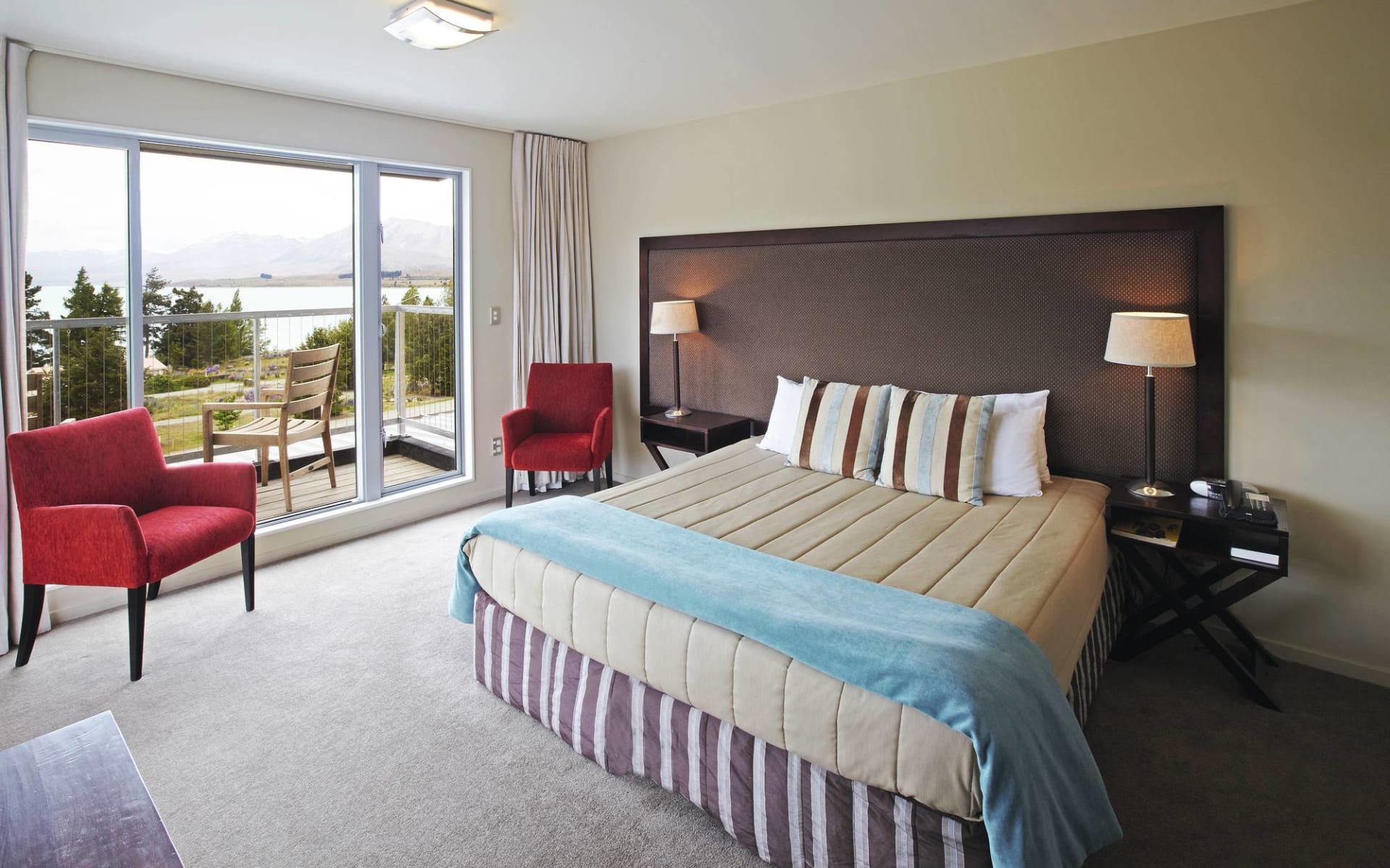 Peppers Bluewater Lake Resort in Tekapo: Peppers Bluewater Lake Resort Tekapo Südinsel Neuseeland  Deluxe Lakeview  2017
