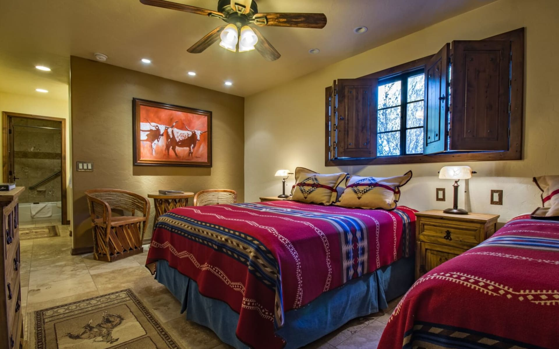 White Stallion Ranch in Tucson: White Stallion Ranch - Guest Room with two Queens
