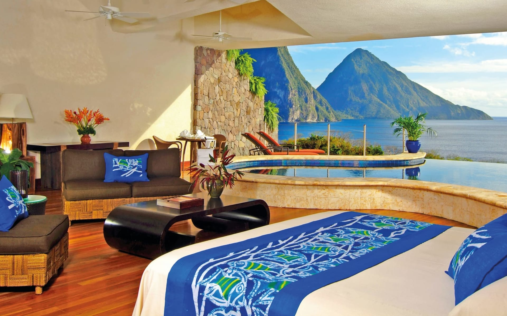 Jade Mountain Resort in Soufrière:  Zimmer Jade Mountain St. Lucia - Moon cHotel