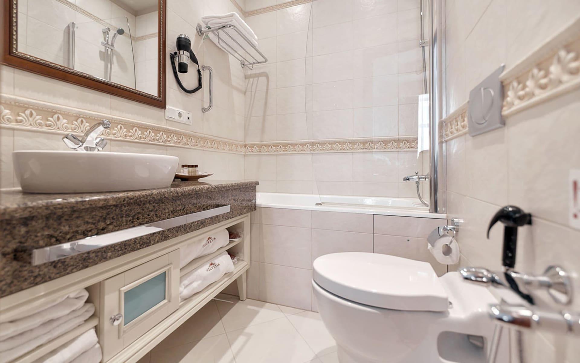 Helvetia Deluxe Hotel in St. Petersburg: Russland_St.Petersburg_Helvetia_Badezimmer