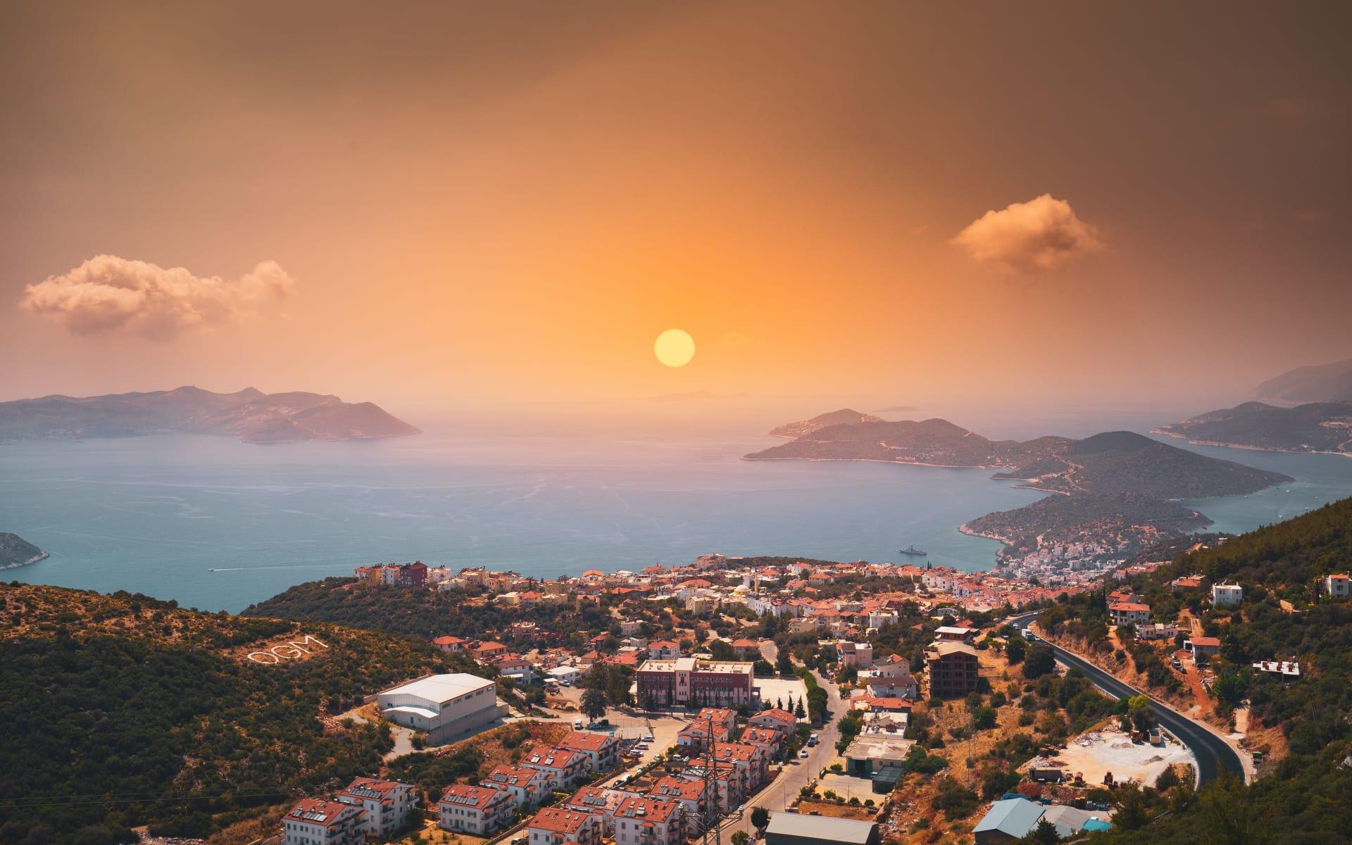 Badeferien im Robinson Club Nobilis ab Antalya: Sonnenuntergang_Antalya