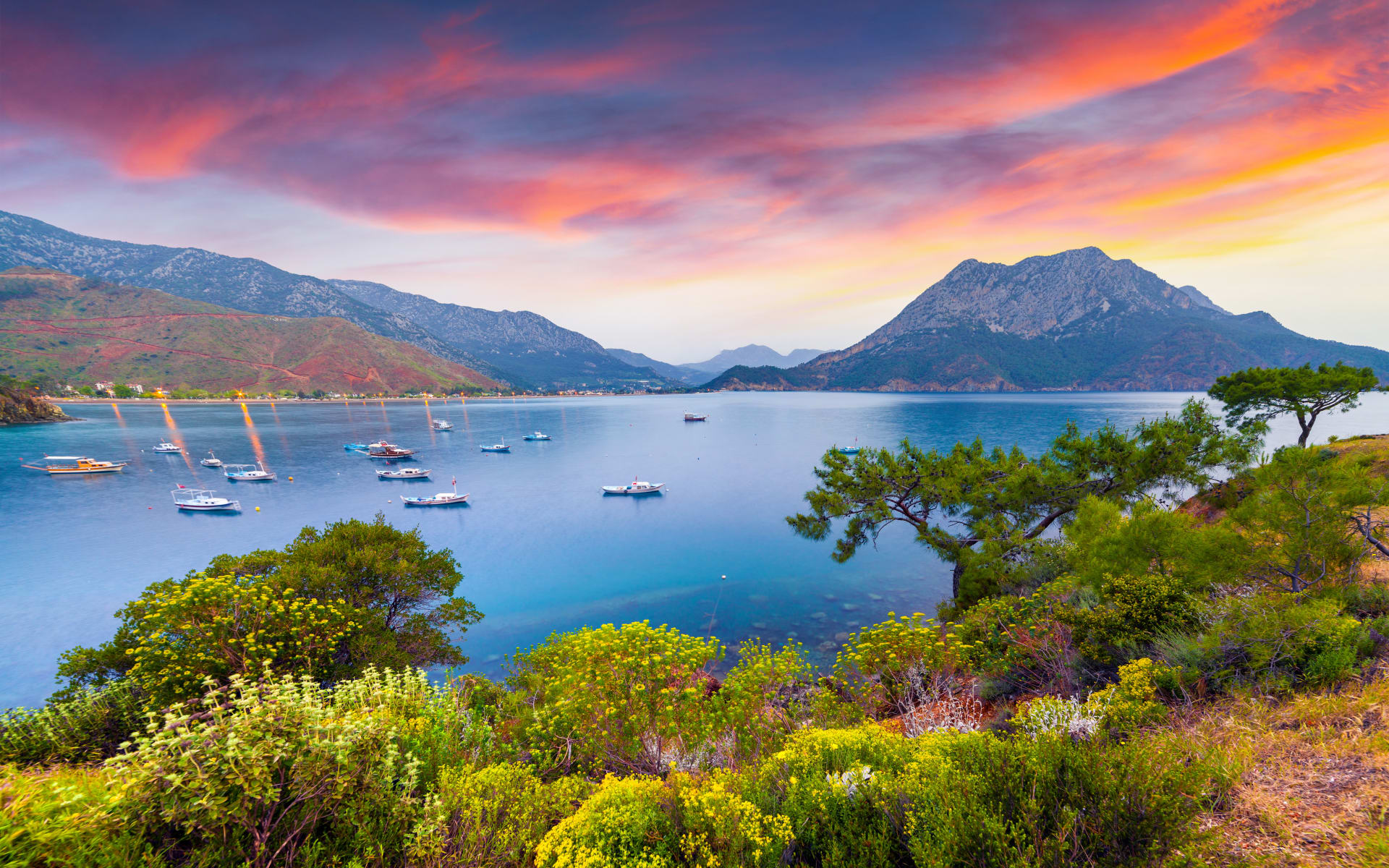 Badeferien im Delphine Deluxe Blue Waters ab Antalya: Sonnenuntergang_Türkei