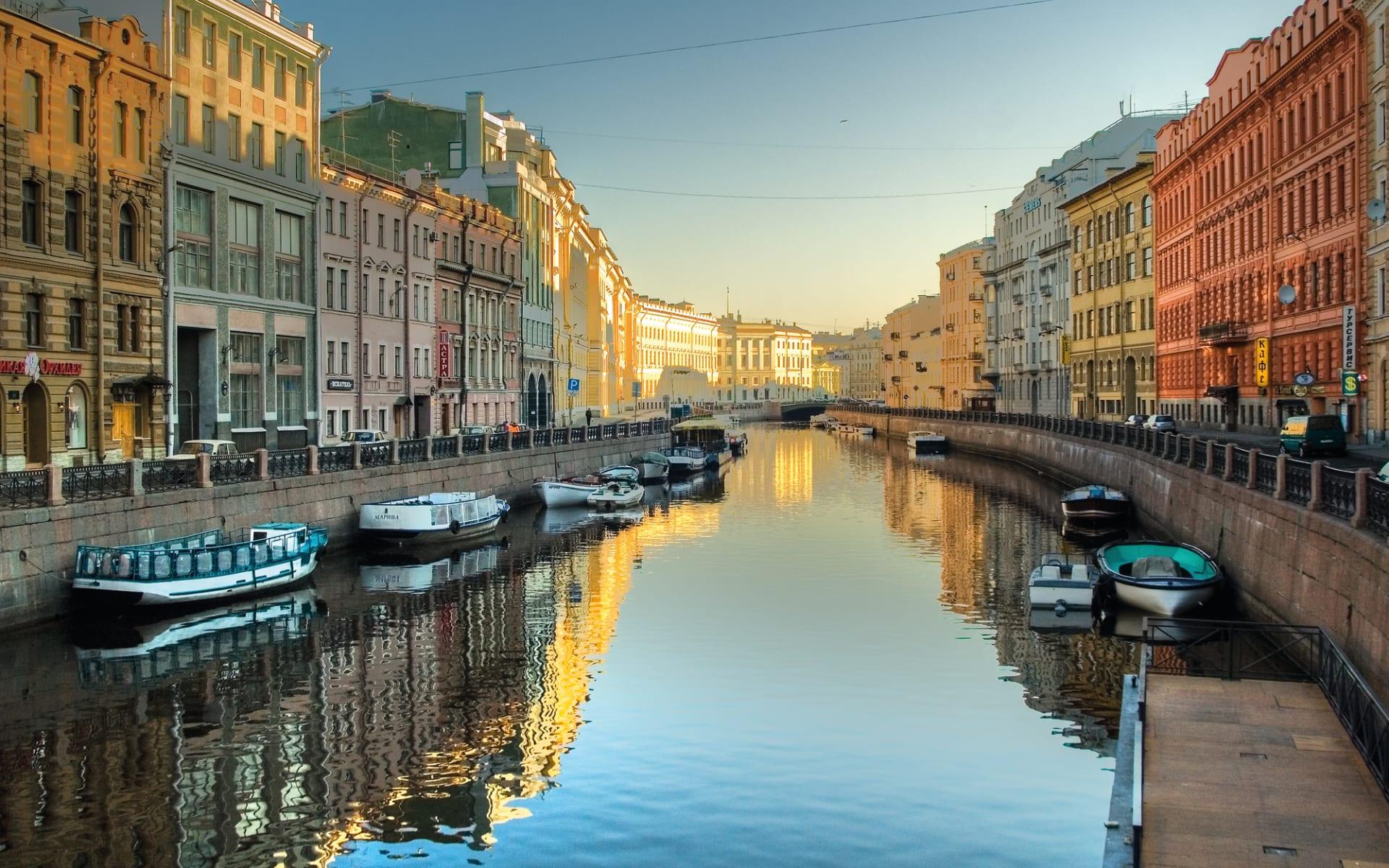 Zarenprunk in St.Petersburg ab St. Petersburg: St. Petersburg Newa Sonne