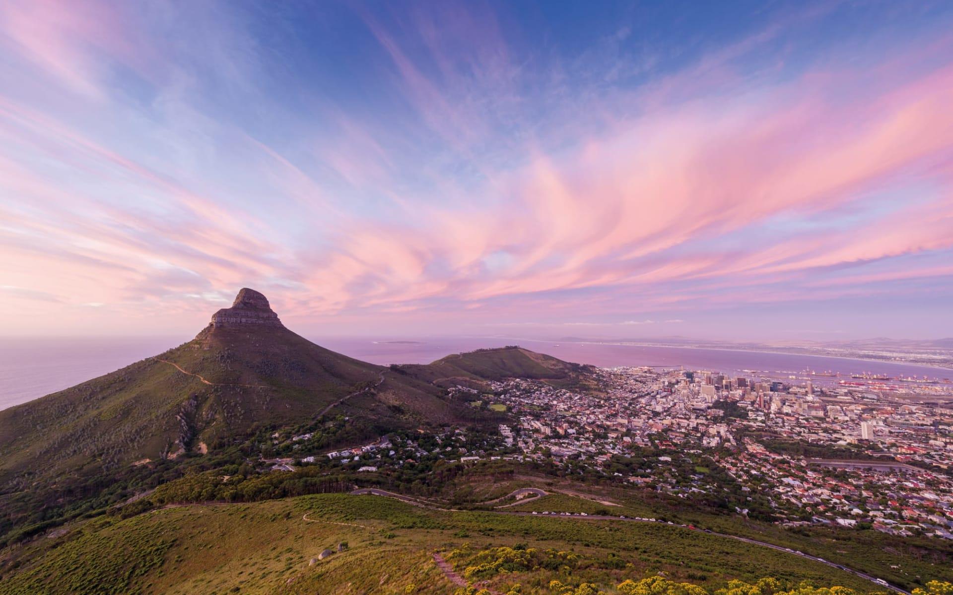 Best of South Africa ab Johannesburg: Südafrika - Kapstadt - Lion Heads in Kaspstadt