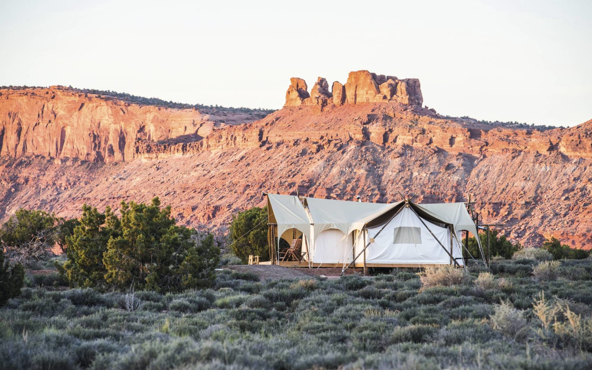 Under Canvas Arches & Canyonlands in Moab: Under Canvas Moab - Aussenansicht