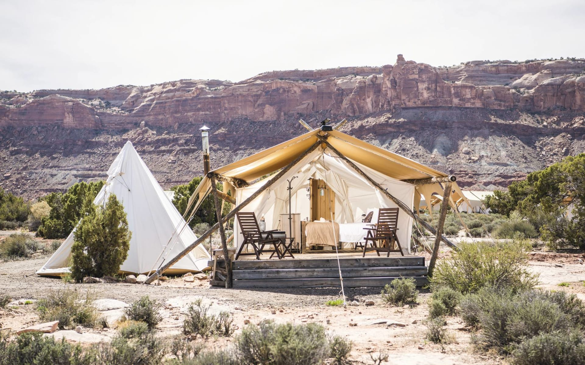 Under Canvas Arches & Canyonlands in Moab: Under Canvas Moab - Suite mit Tipi