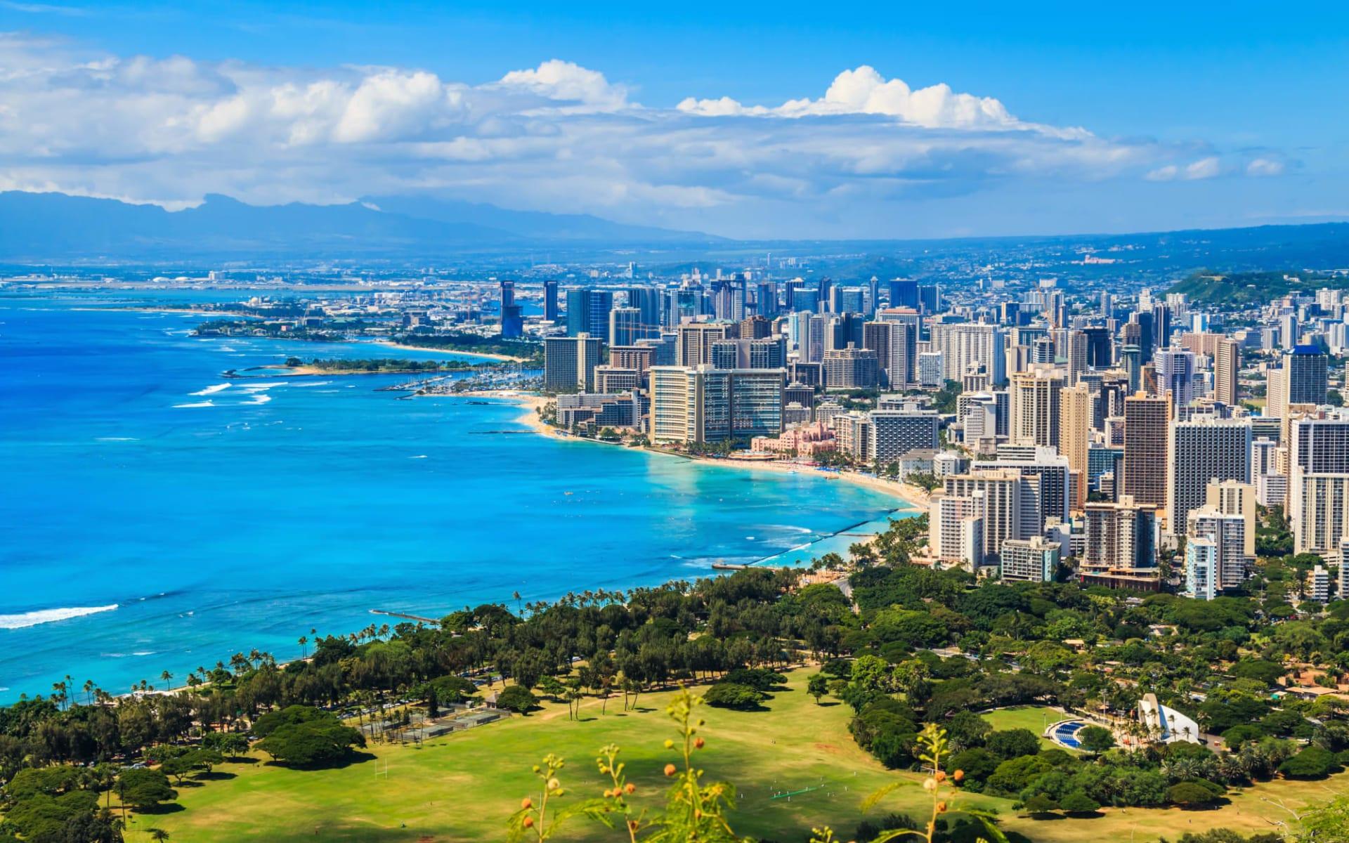 Hawaiian Discovery ab Honolulu - Oahu: USA_Hawaii_Oahu_Honolulu_Waikiki Beach