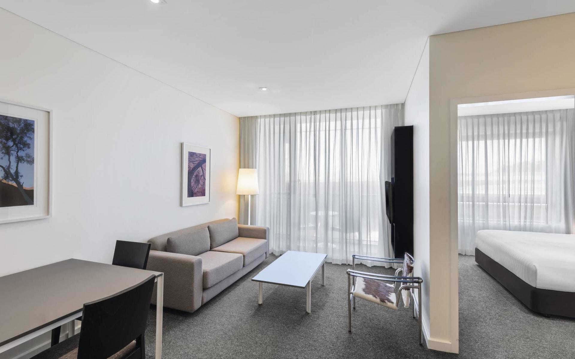 Adina Apartment Hotel Perth: Zimmer Adina Apartment Hotel Perth Westaustralien Australien  Apartment