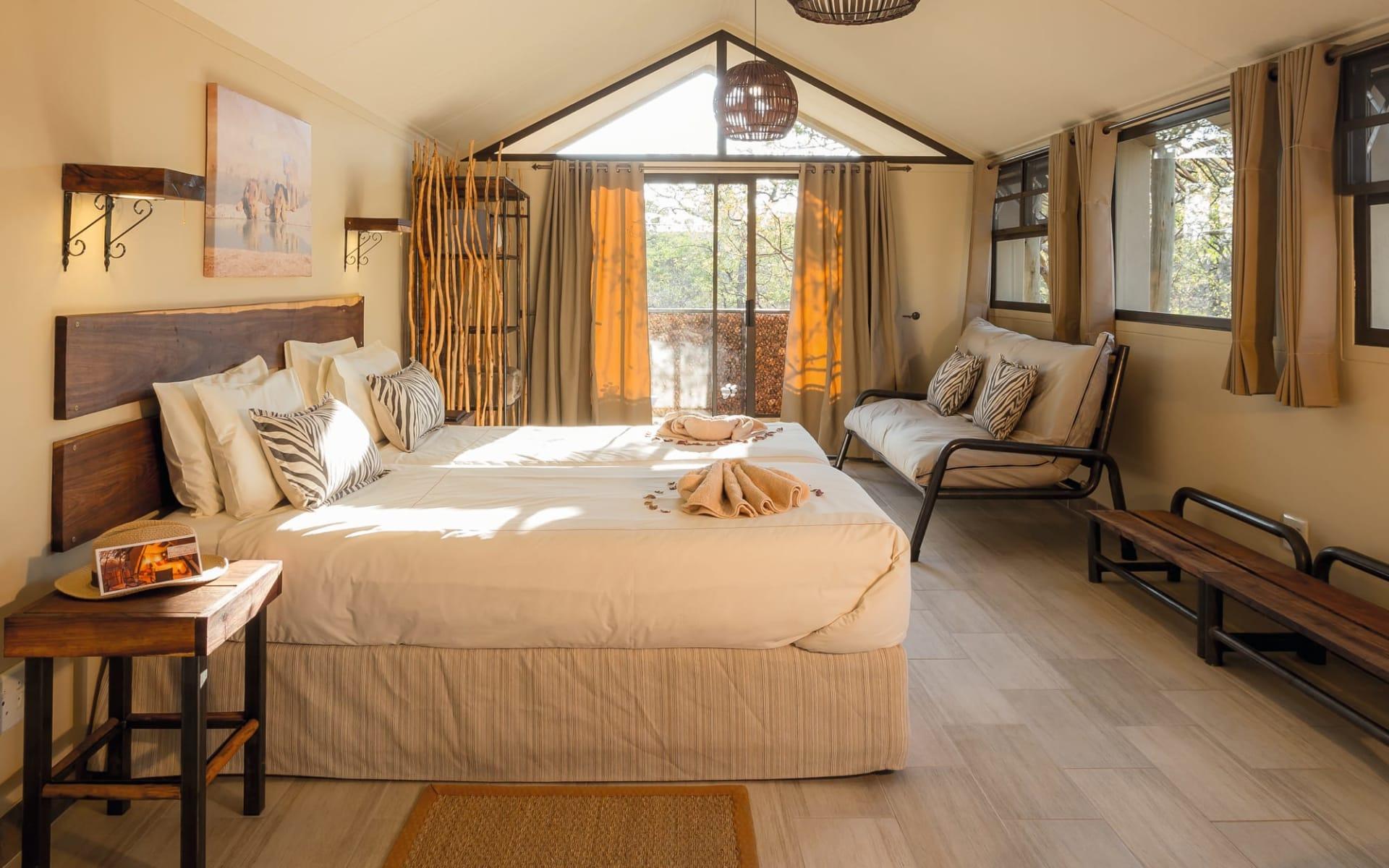 Etosha Village in Etosha Nationalpark: zimmer Etosha Village- zimmermit Bett