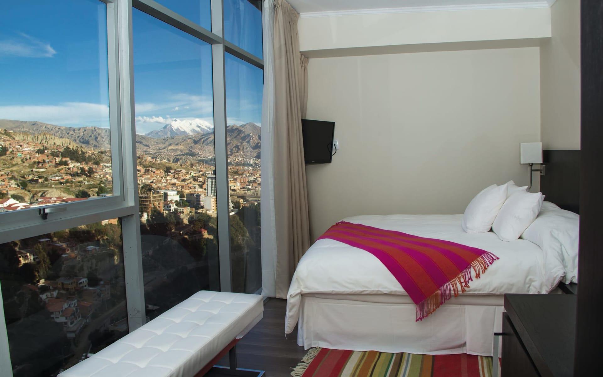 Stannum Hotel in La Paz: Zimmer Hotel Stannum Queenbed mit Aussicht