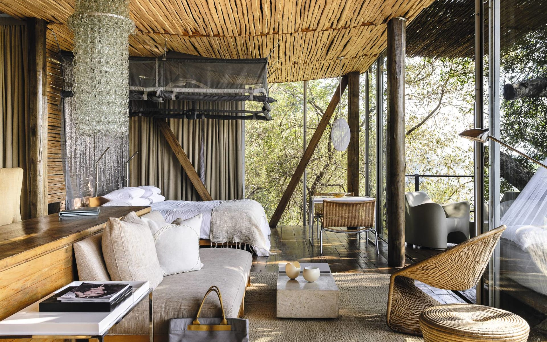 Singita Lebombo Game Reserve in Krüger Nationalpark: zimmer Singita Singita Lebombo Queenbed