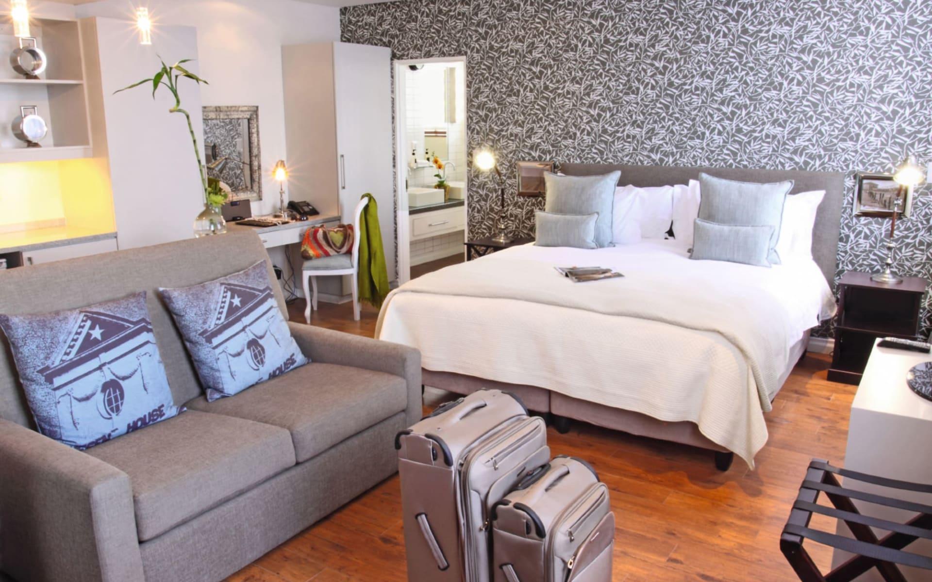 The Turbine Boutique Hotel & Spa in Knysna: Zimmer The Turbine Boutique Hotel and Spa Schlafzimmer der Luxury Suite