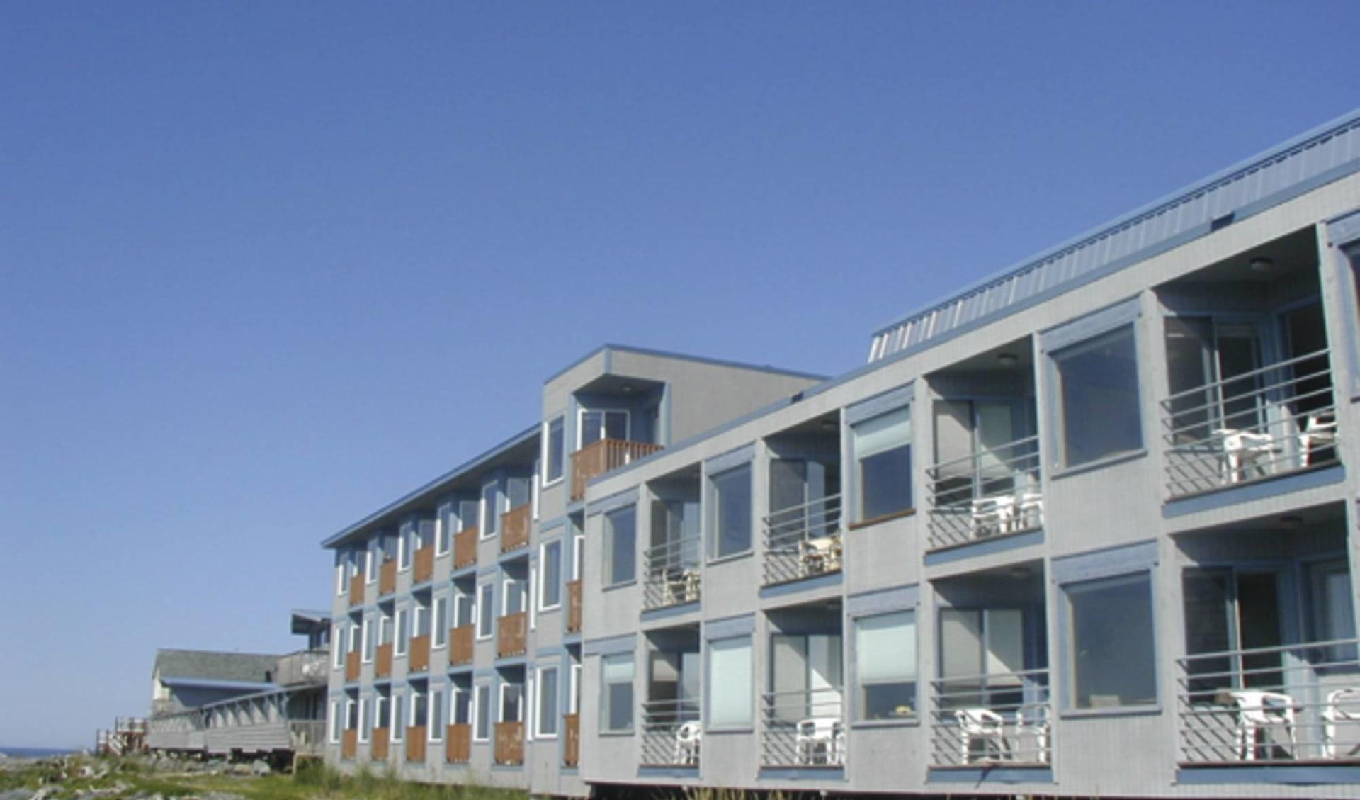 Land's End Resort in Homer: _ exterior Land`s End Resort Aussenansicht vom Hotel