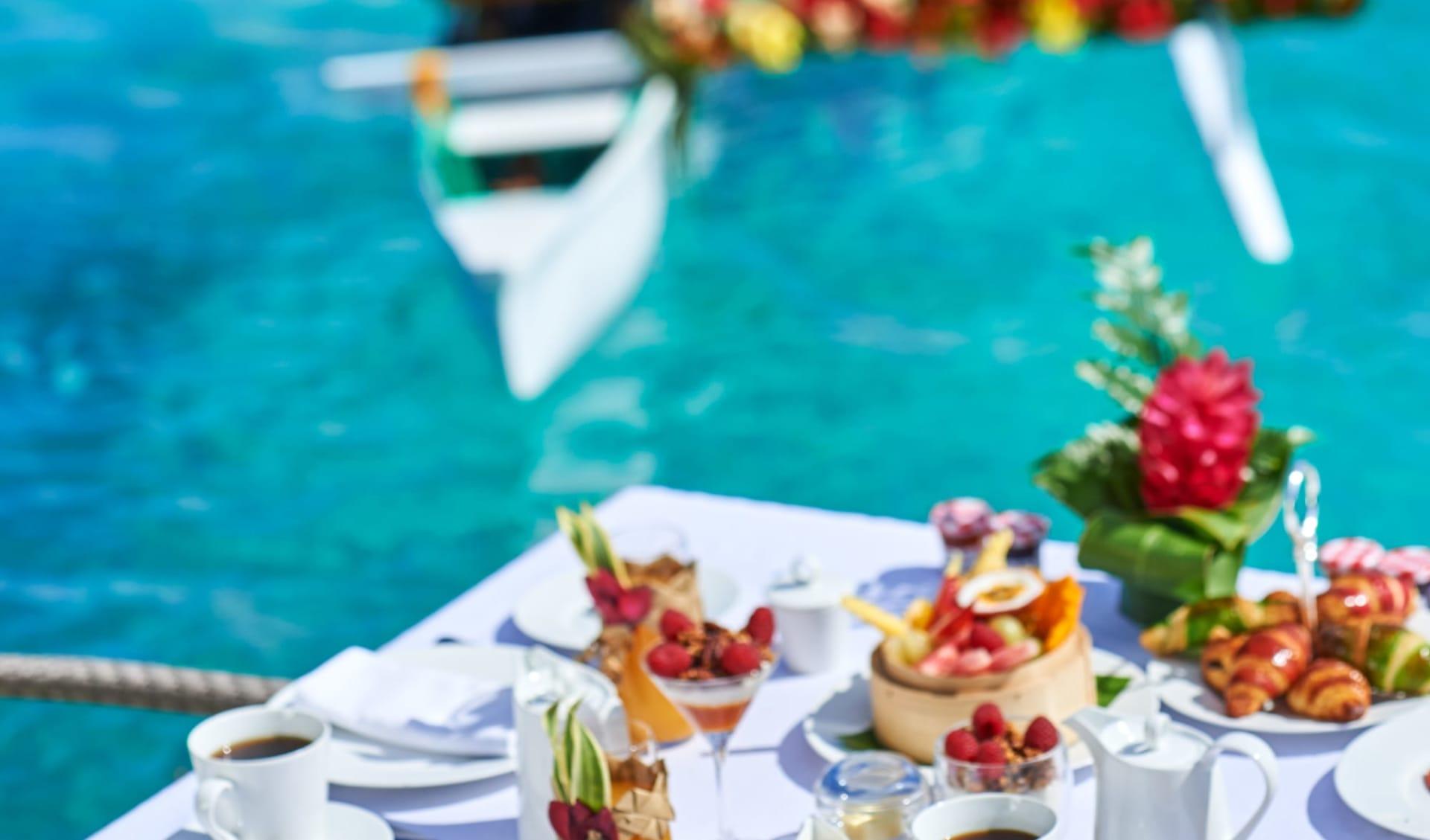 Conrad Bora Bora Nui:  BOB Conrad Bora Bora Nui - F&B - Canoe Breakfast (2)