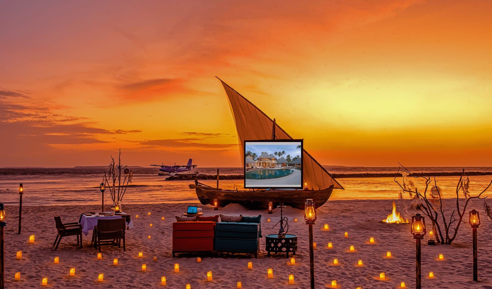 The Nautilus Maldives in Baa-Atoll: Cinema at the Beach