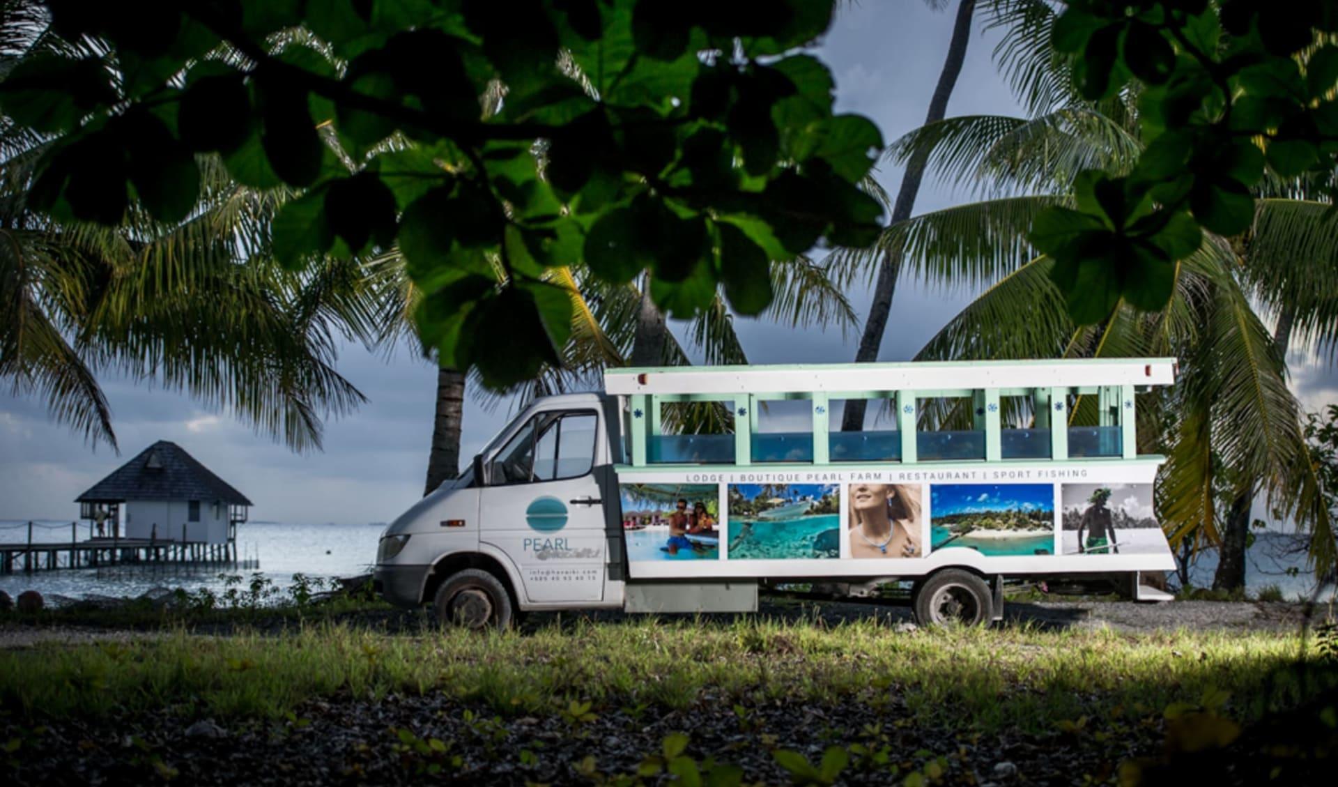 Havaiki Lodge in Fakarava:  Havaiki Lodge Transfer