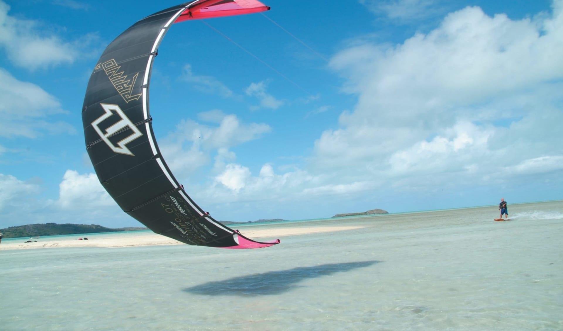 Charmantes Mauritius & Rodrigues ab Port Sud-Est: activities: Kitesurf