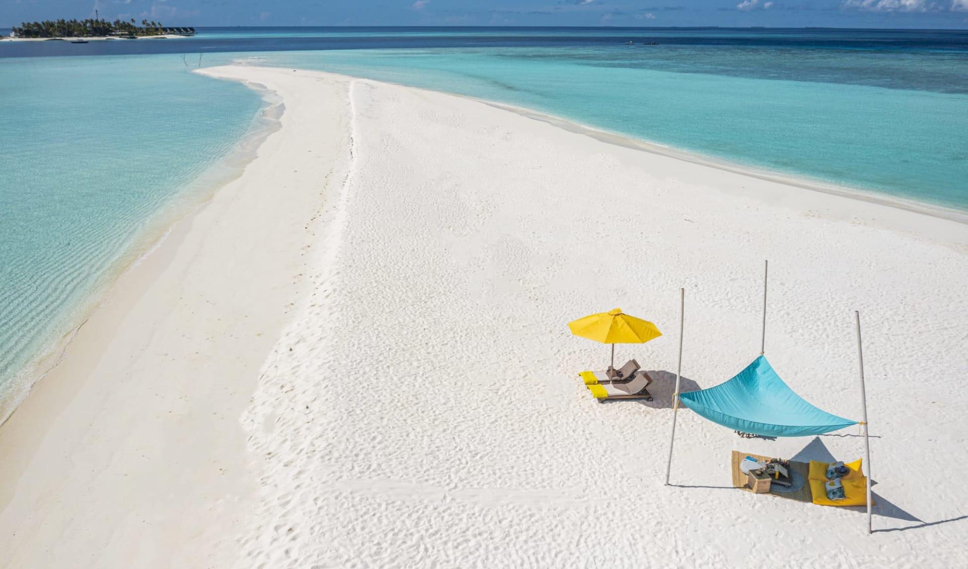 Fushifaru Maldives in Lhaviyani-Atoll:  Sandbank Excursion