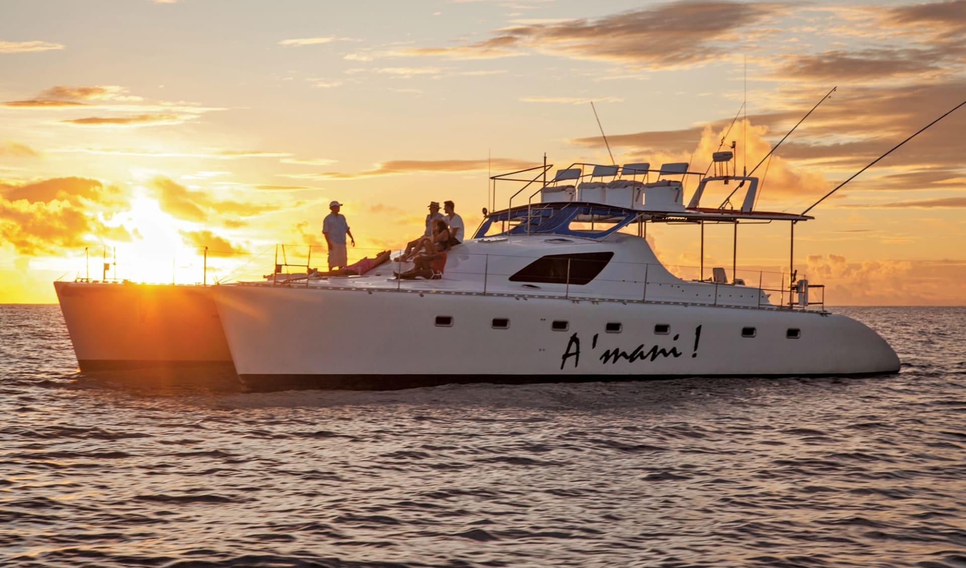 Alphonse Island by Blue Safaris Seychelles:  Sunset cruise