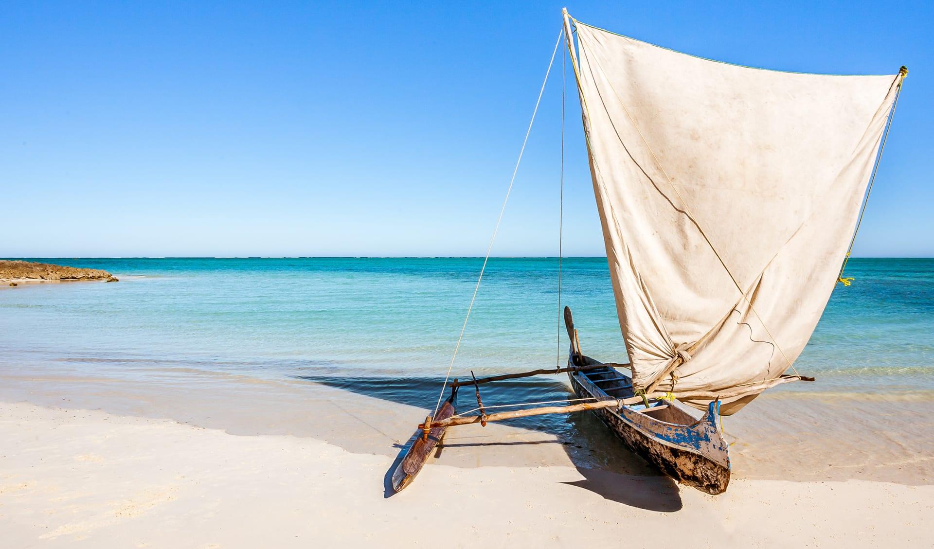 Traditionelles Vezo Fischerboot, Madagaskar