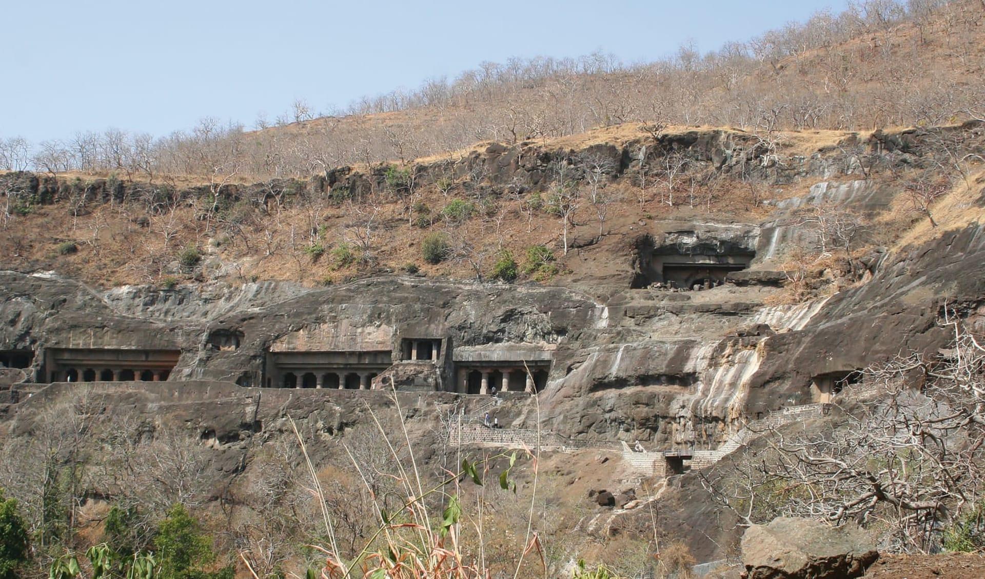 Weltkulturerbe Ellora & Ajanta ab Aurangabad: Ajanta: caves