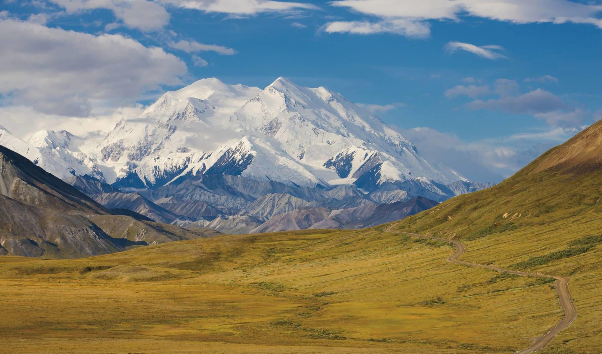 Höhepunkte des Nordens ab Anchorage: Alaska - Denali Nationalpark - Blick auf Berg